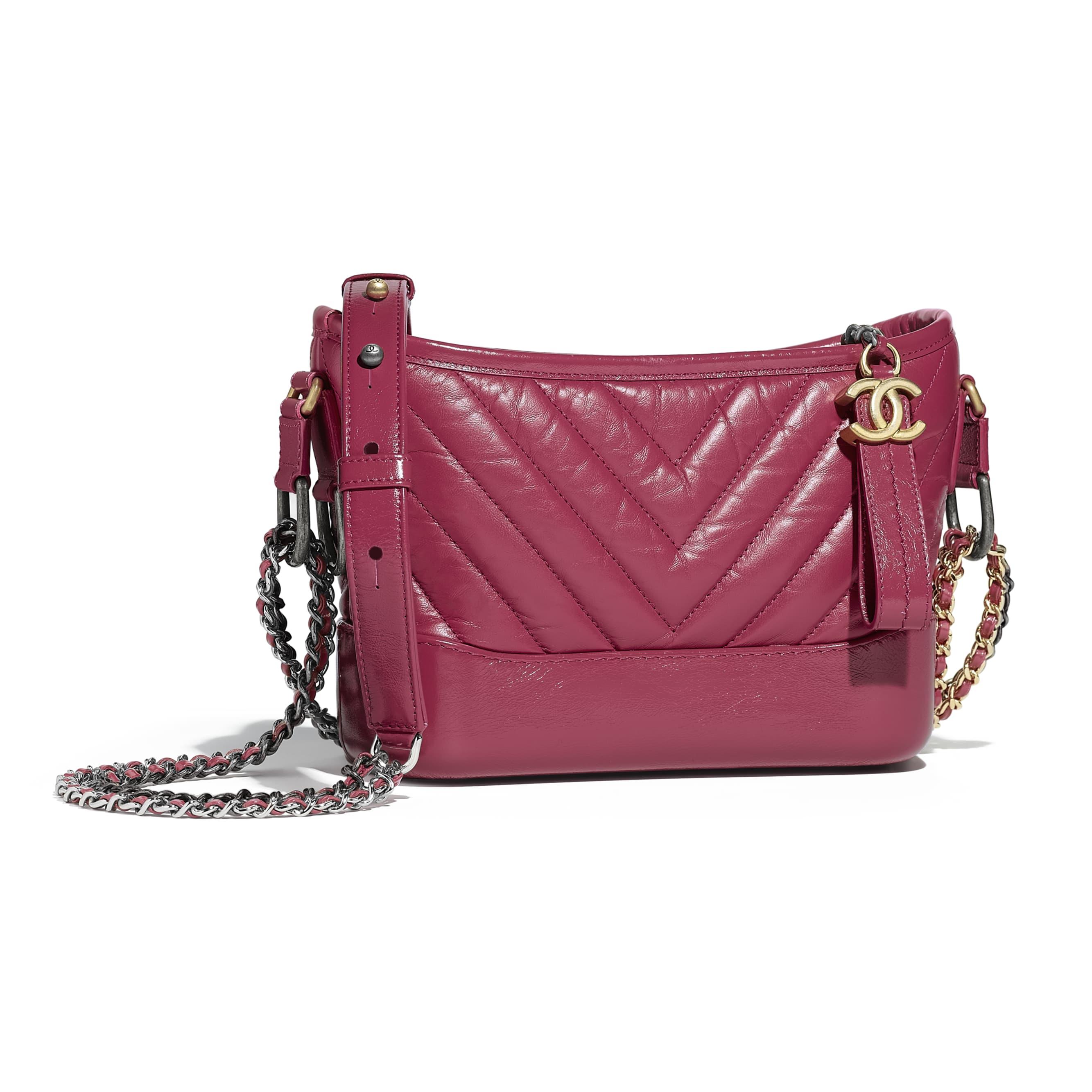 Chanels gabrielle small hobo bag pink aged calfskin smooth calfskin silver  jpg 2667x2667 Pink hobo 8c62c832b2