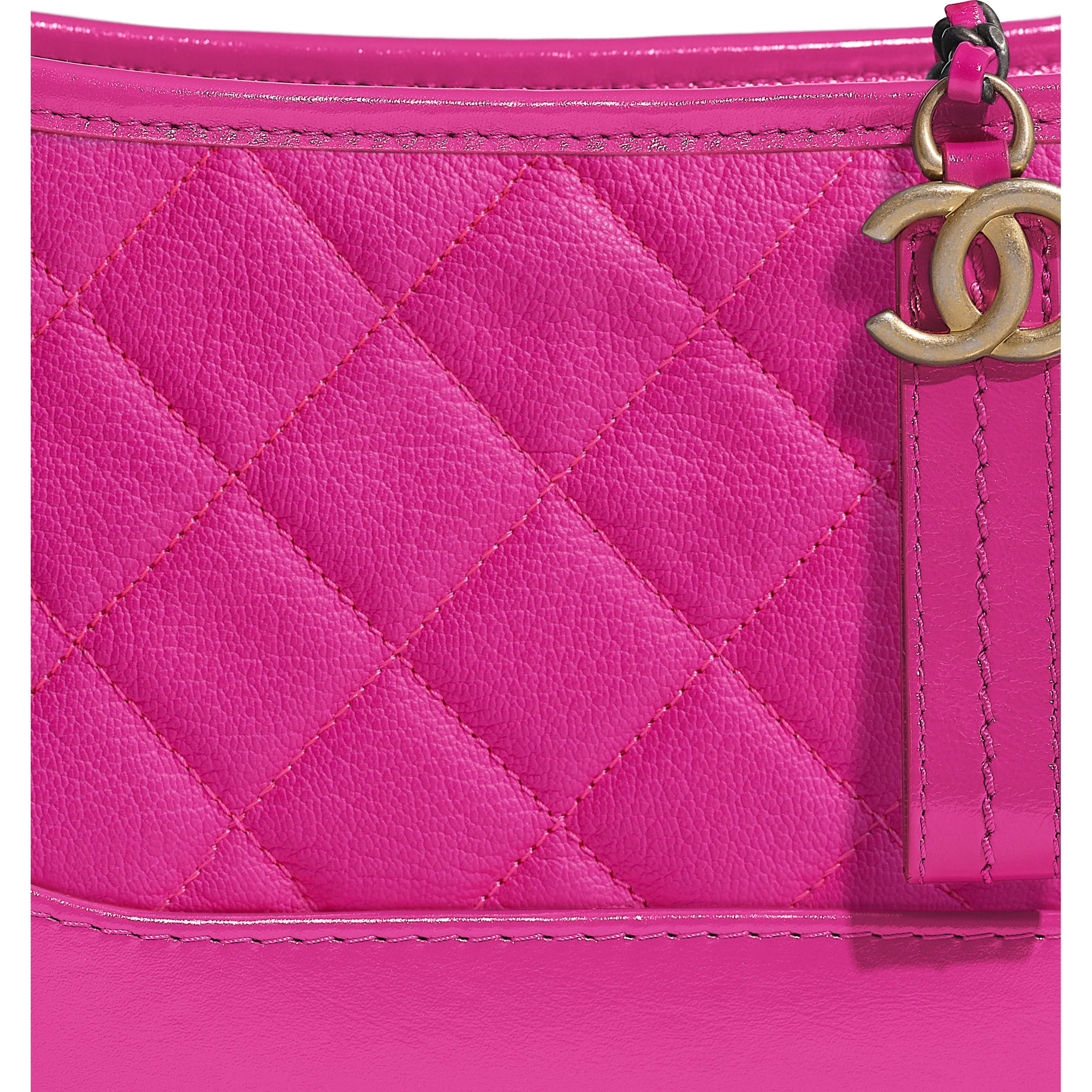 CHANEL'S GABRIELLE Small Hobo Bag - Pink - Goatskin, Gold-Tone & Silver-Tone Metal - Extra view - see standard sized version
