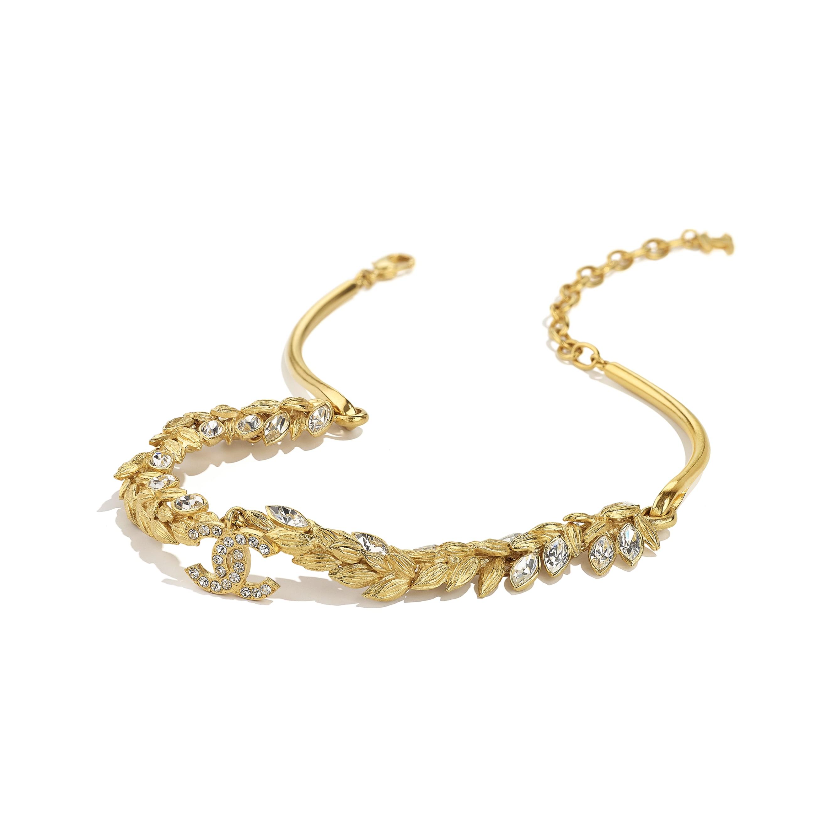 Gargantilha - Gold & Crystal - Metal & Strass - CHANEL - Vista alternativa - ver a versão em tamanho standard