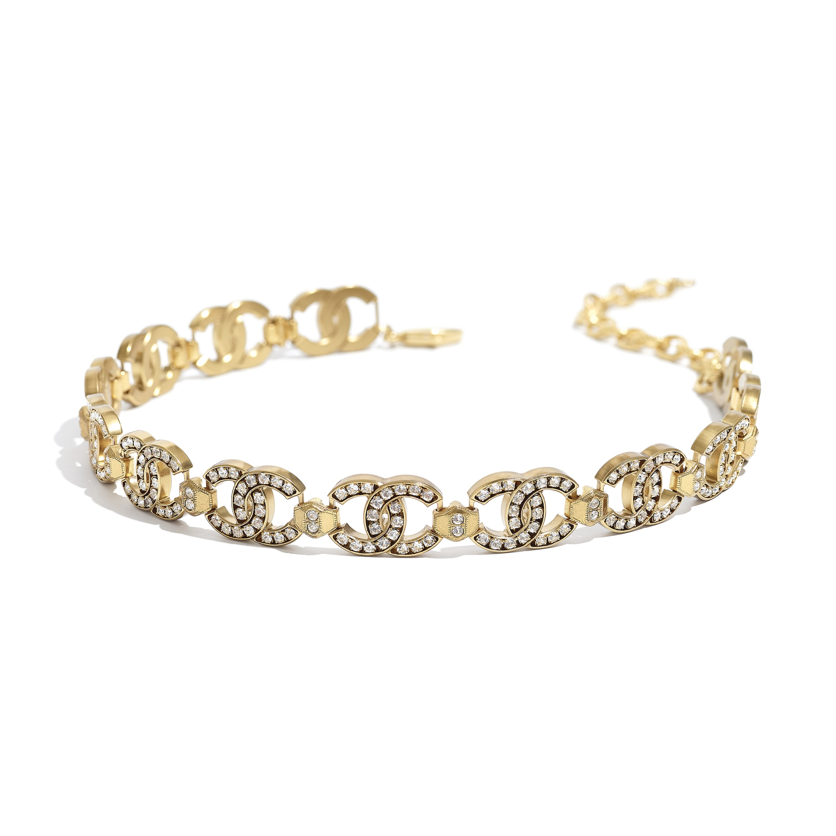 Choker - Gold & Crystal - Metal & Strass - CHANEL - Alternative view - see standard sized version