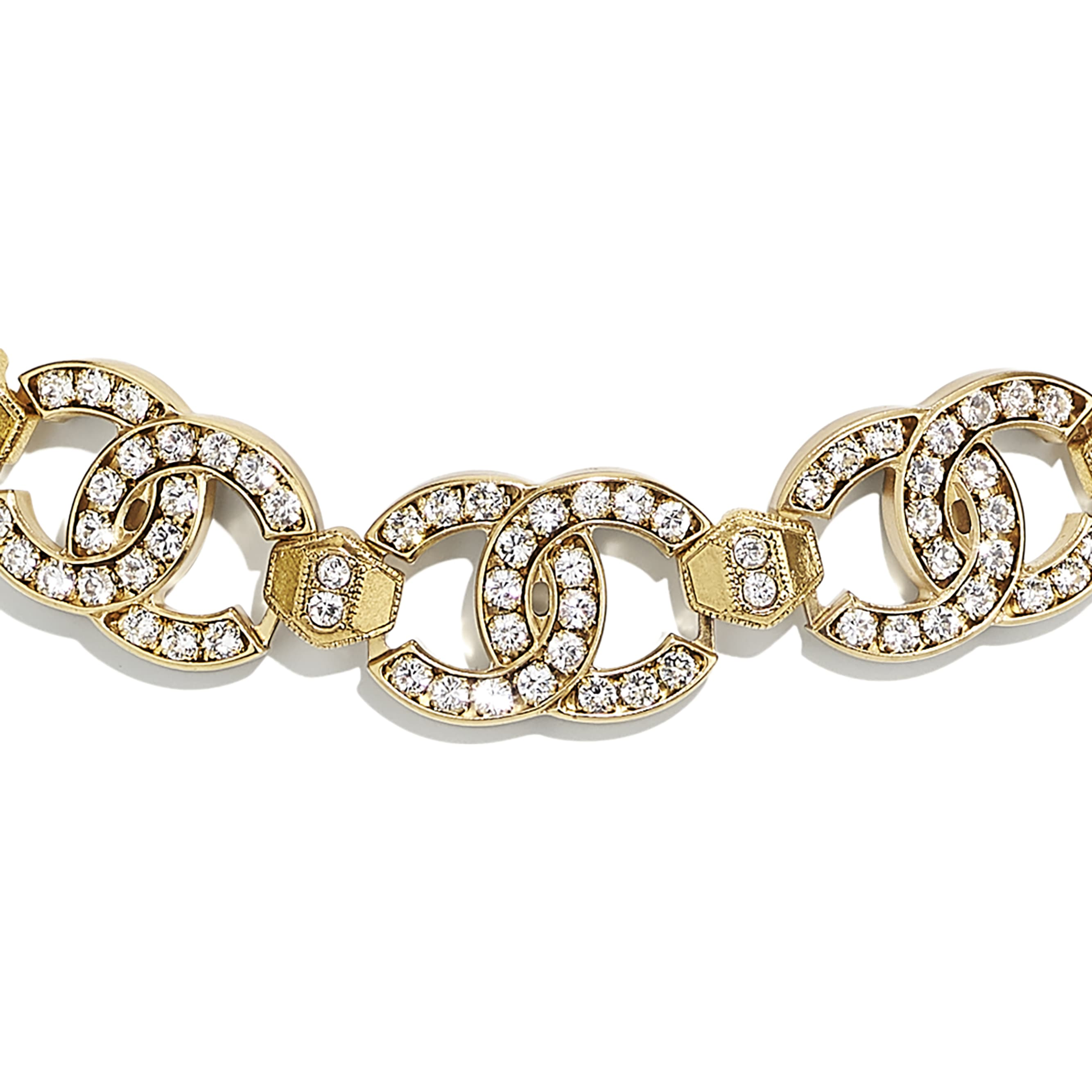 Choker - Gold & Crystal - Metal & Strass - CHANEL - Other view - see standard sized version