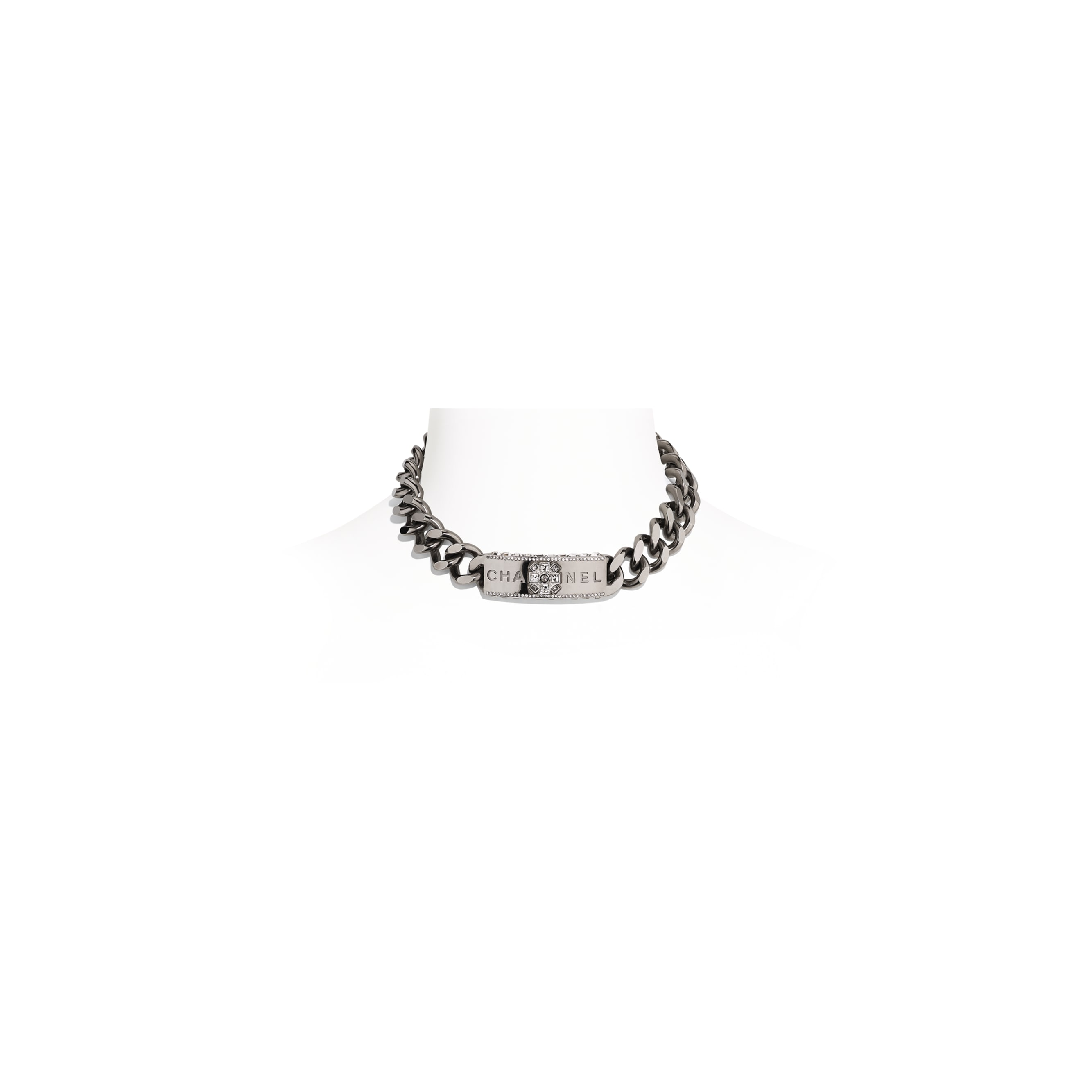 Choker - Ruthenium & Crystal - Metal & Diamantés - Default view - see standard sized version