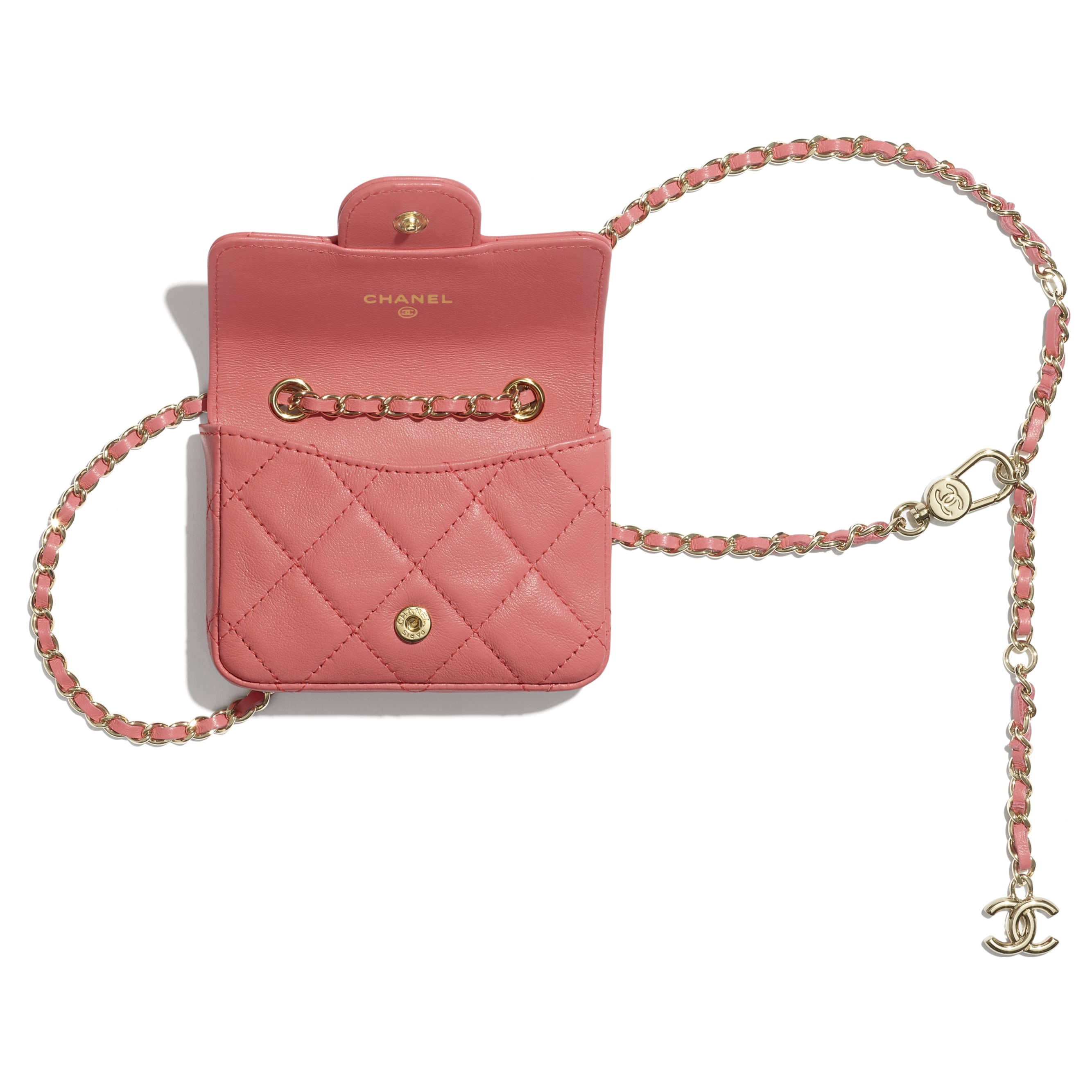 Classic Belt Bag - Coral - Lambskin - CHANEL - Alternative view - see standard sized version
