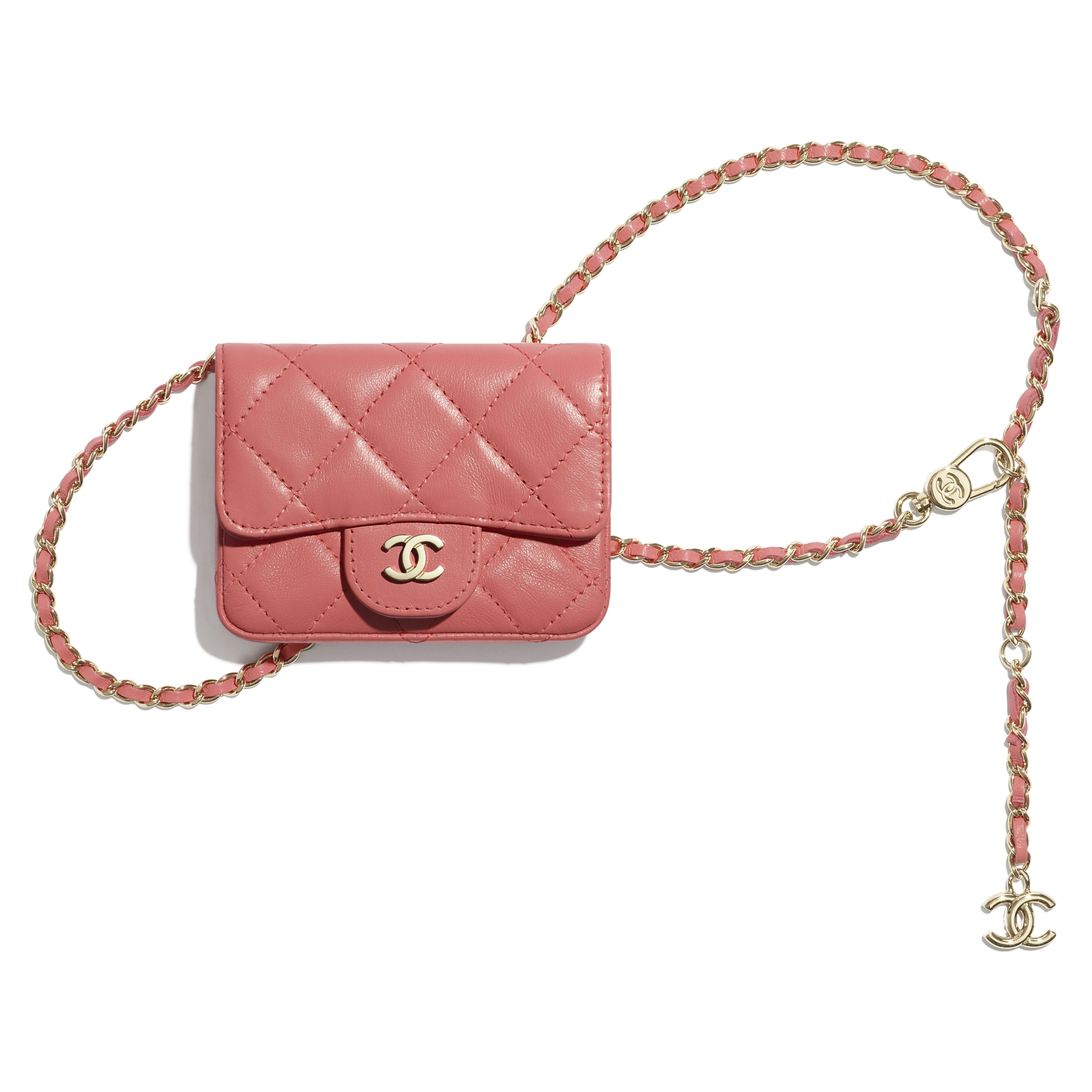 Classic Belt Bag - Coral - Lambskin - CHANEL - Default view - see standard sized version