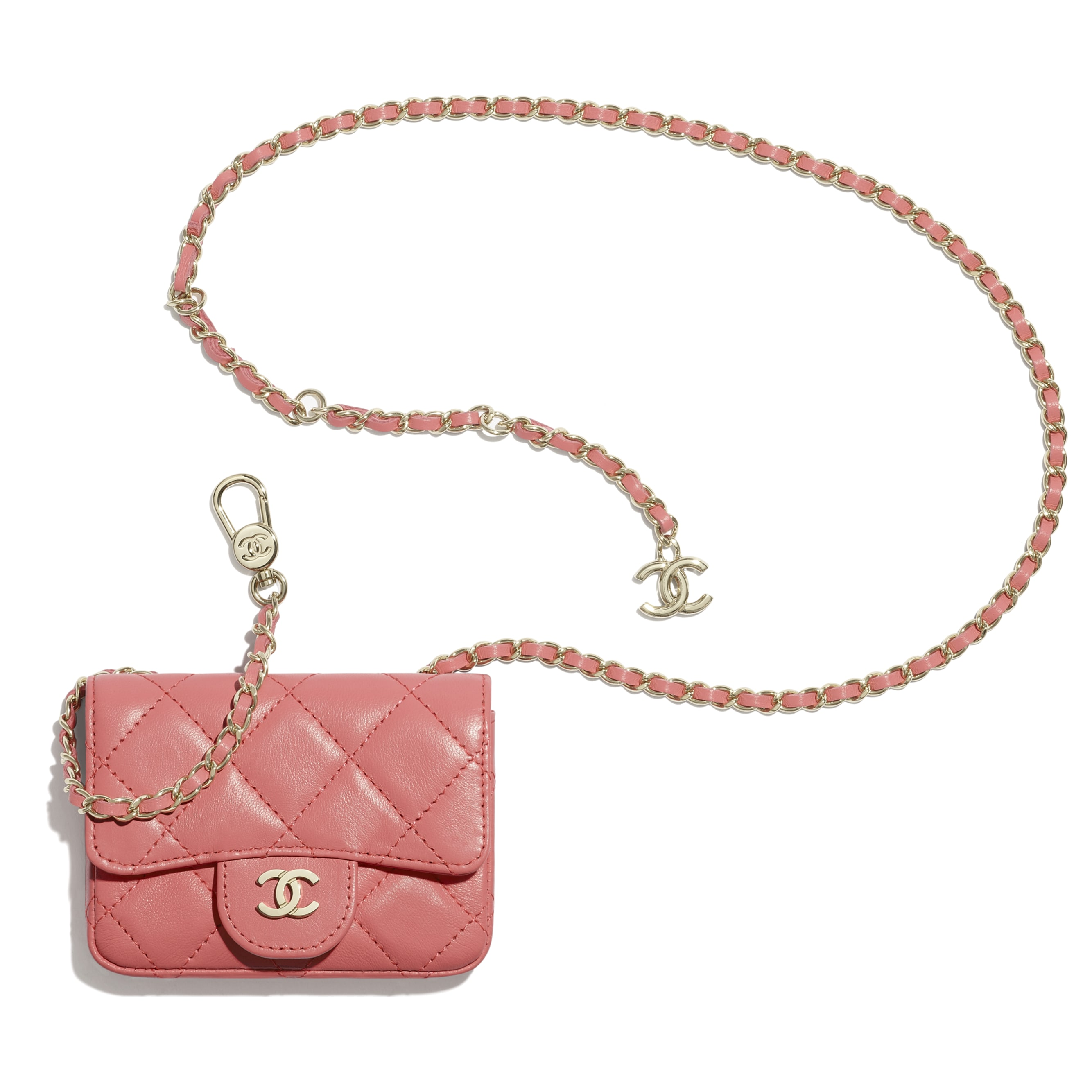 Classic Belt Bag - Coral - Lambskin - CHANEL - Extra view - see standard sized version