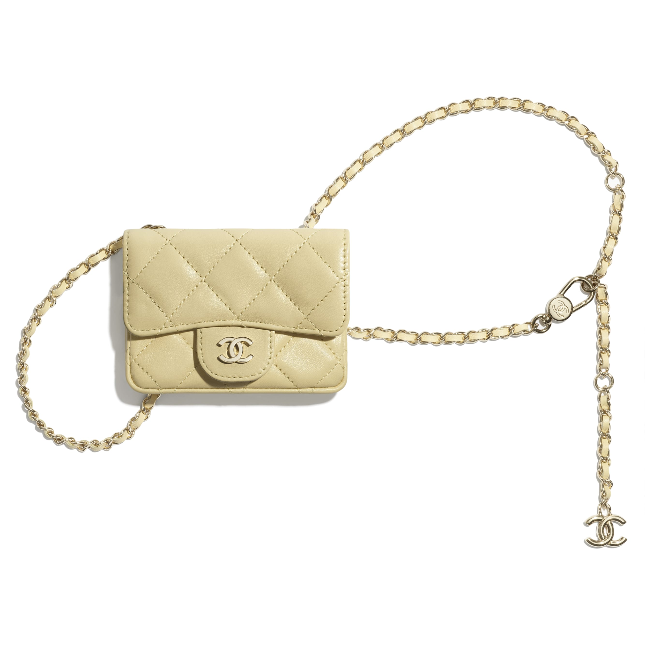 Classic Belt Bag - Yellow - Lambskin - CHANEL - Default view - see standard sized version