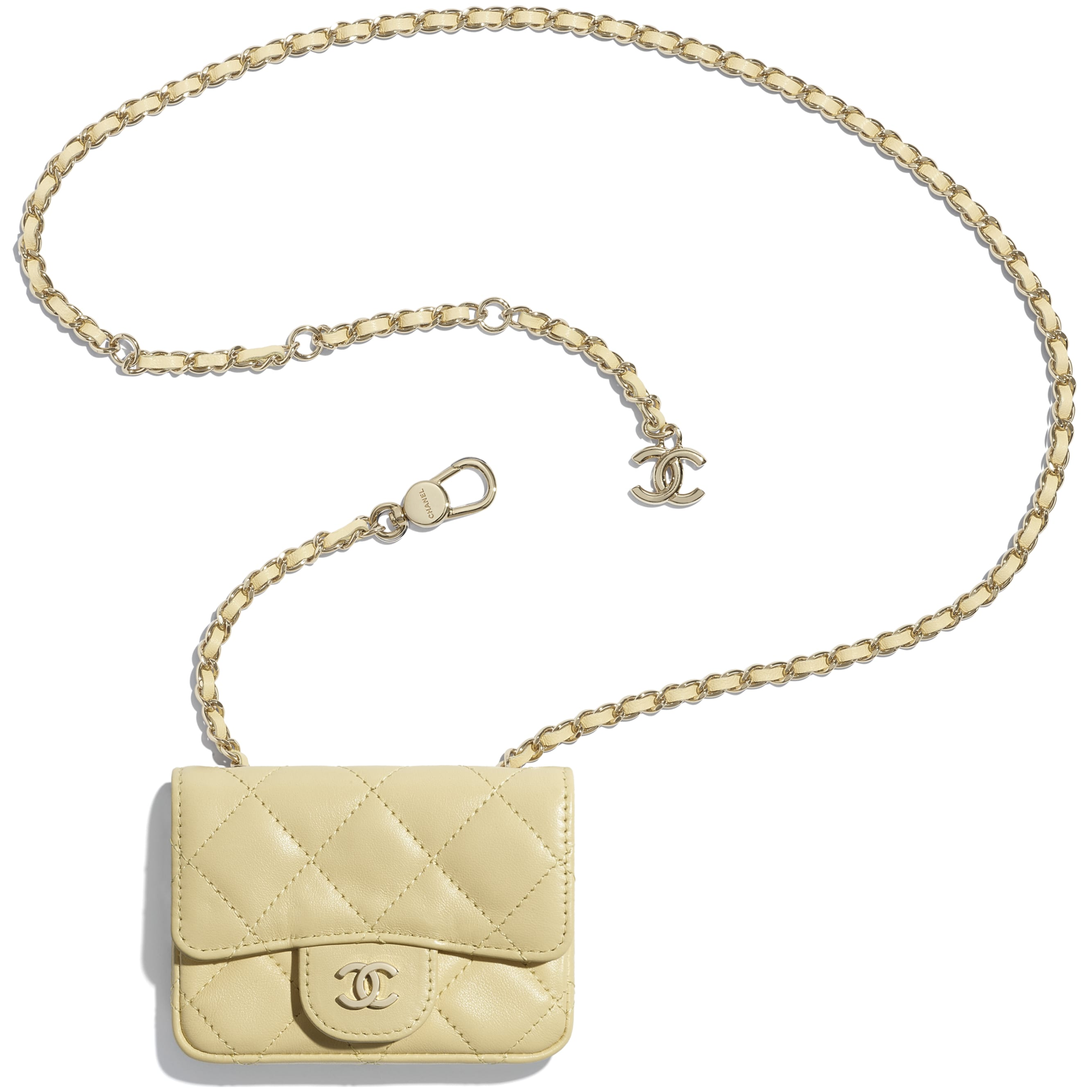 Classic Belt Bag - Yellow - Lambskin - CHANEL - Extra view - see standard sized version