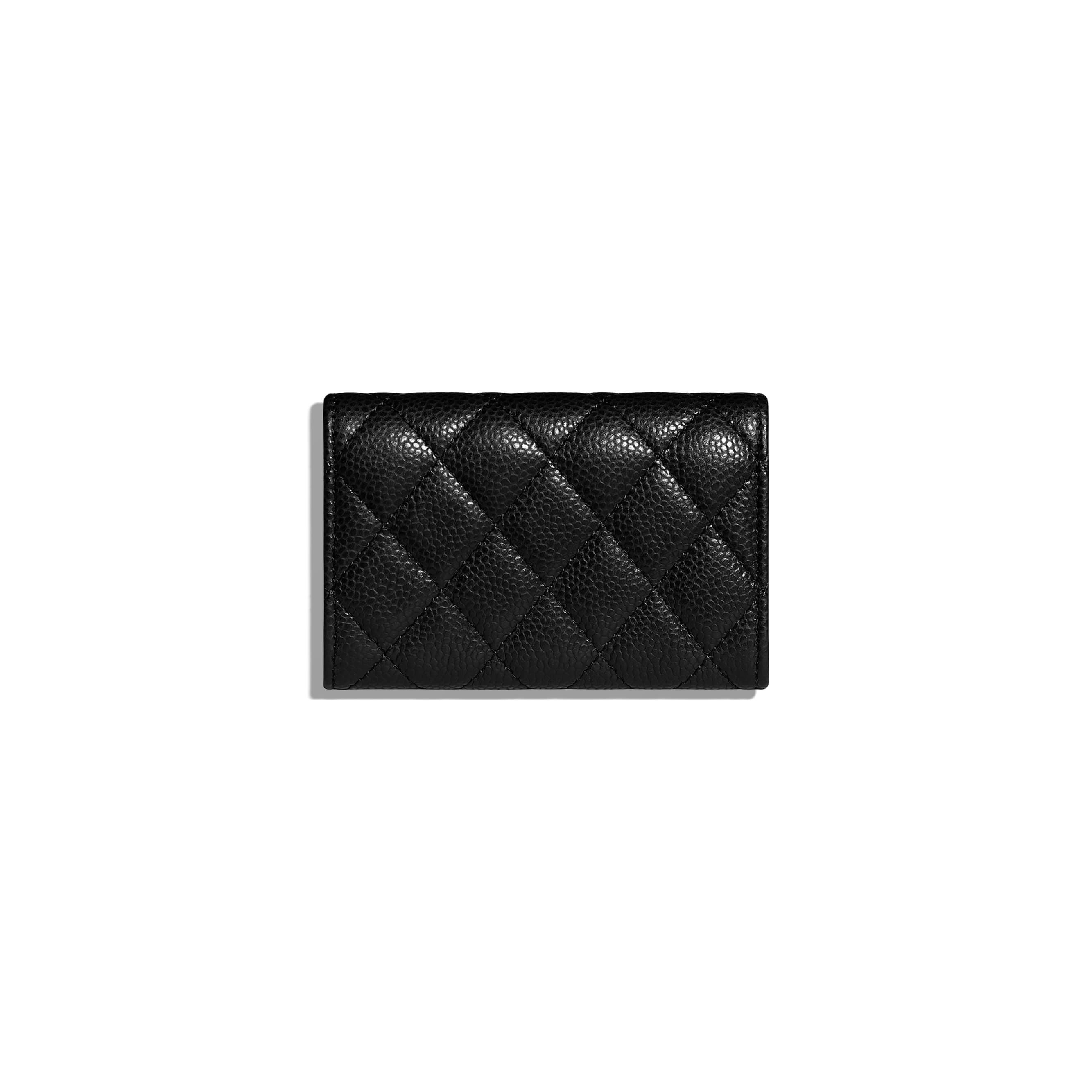 Classic Card Holder - Black - Grained Calfskin & Gold-Tone Metal - CHANEL - Alternative view - see standard sized version