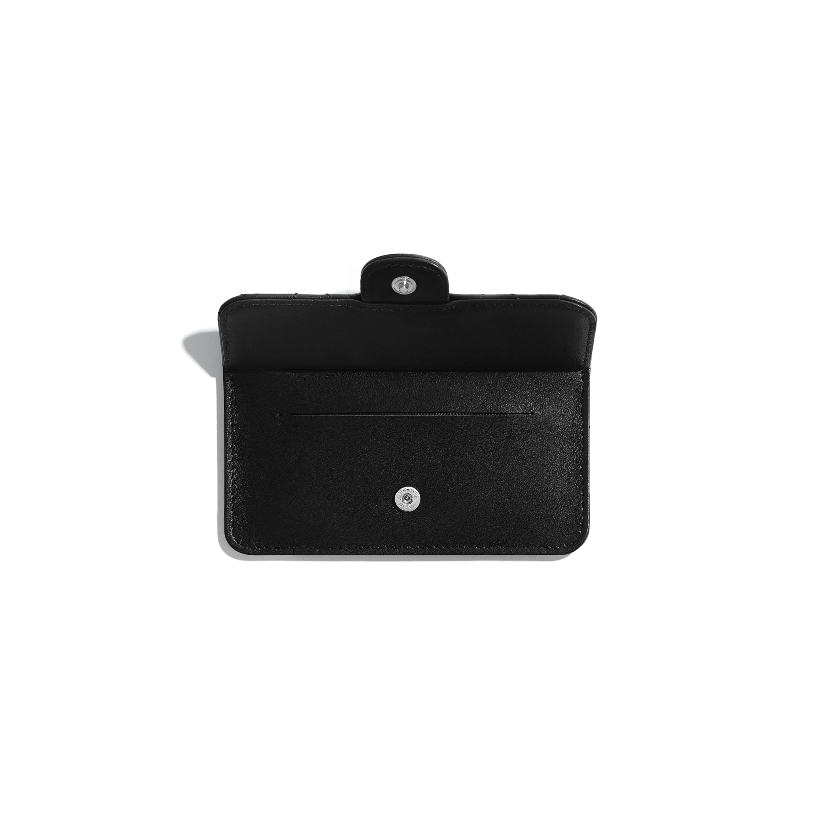 Classic Card Holder - Black - Lambskin - Other view - see standard sized version