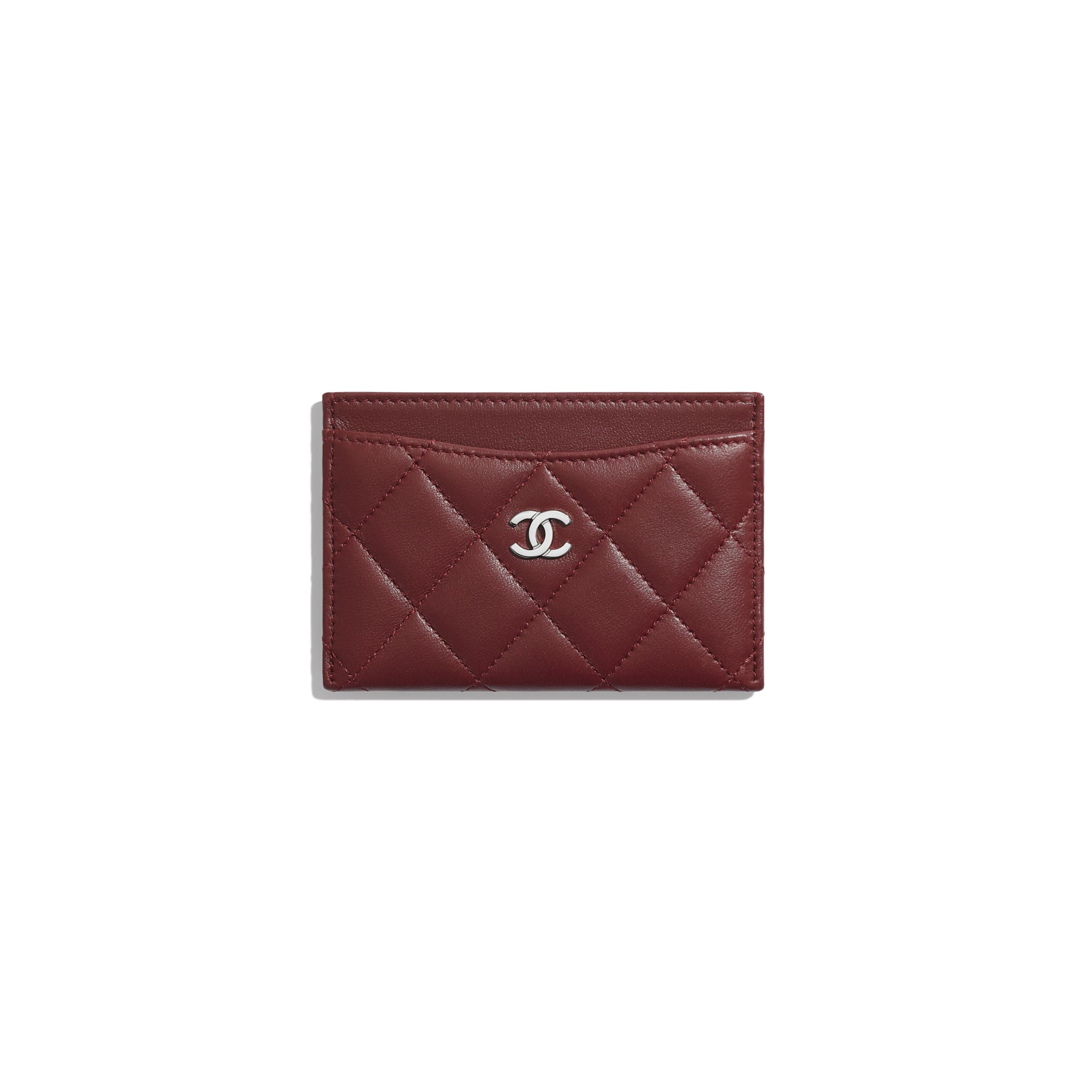 Classic Card Holder - Burgundy - Lambskin - Default view - see standard sized version