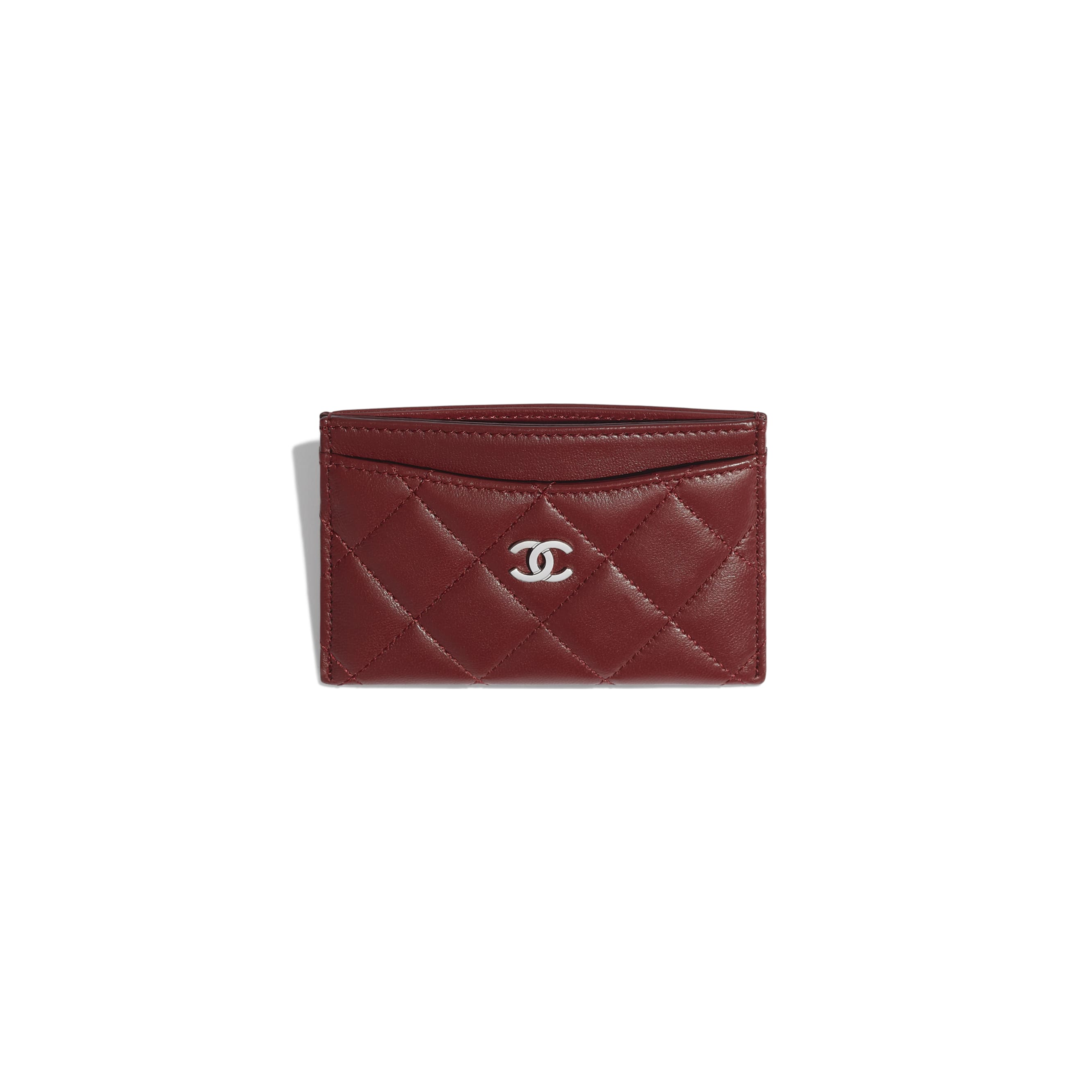 Classic Card Holder - Burgundy - Lambskin - Other view - see standard sized version
