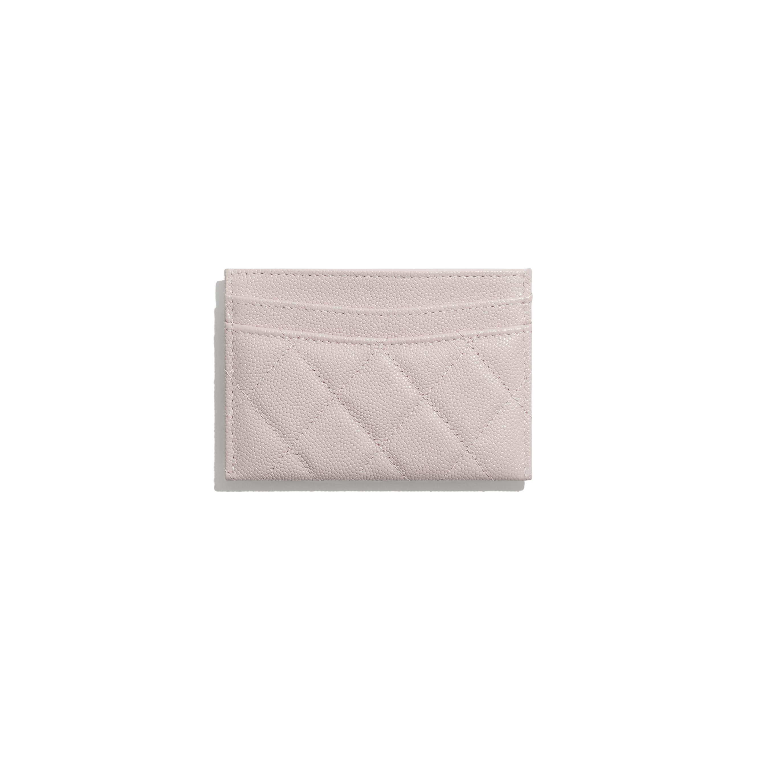 Classic Card Holder - Light Pink - Grained Calfskin & Gold-Tone Metal - CHANEL - Alternative view - see standard sized version