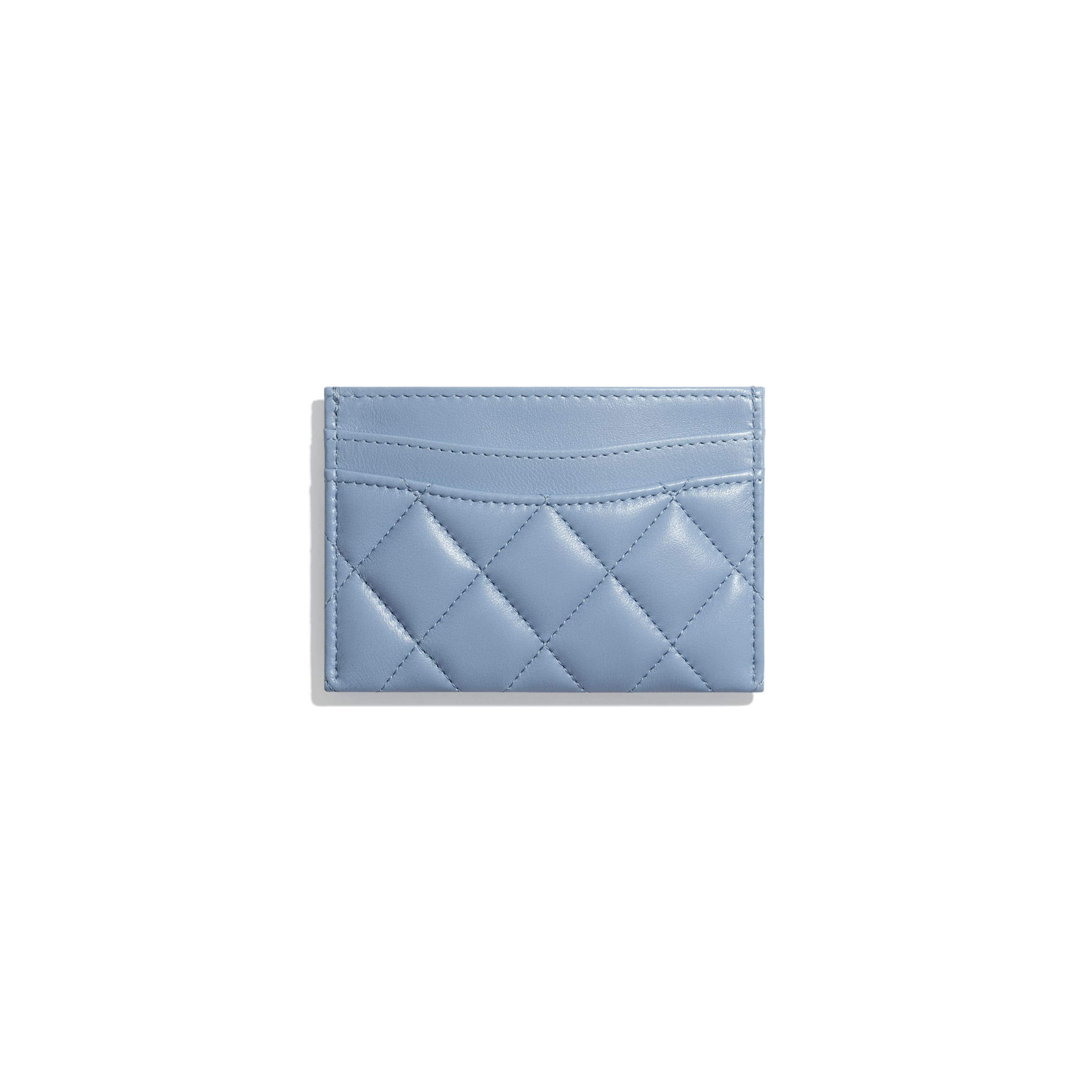 Classic Card Holder - Sky Blue - Lambskin - CHANEL - Alternative view - see standard sized version