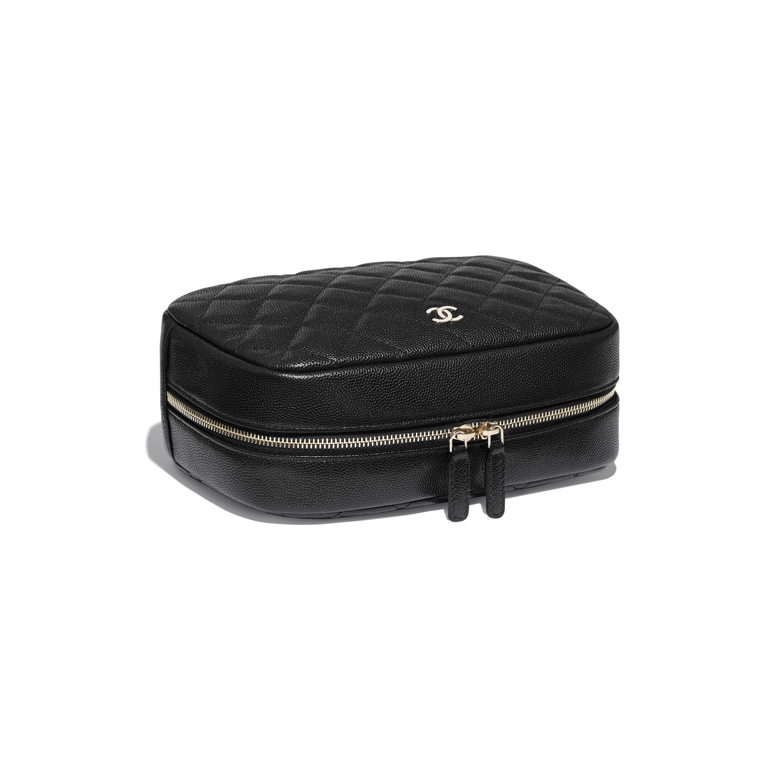 Classic Case - Black - Grained Calfskin & Gold-Tone Metal - Extra view - see standard sized version