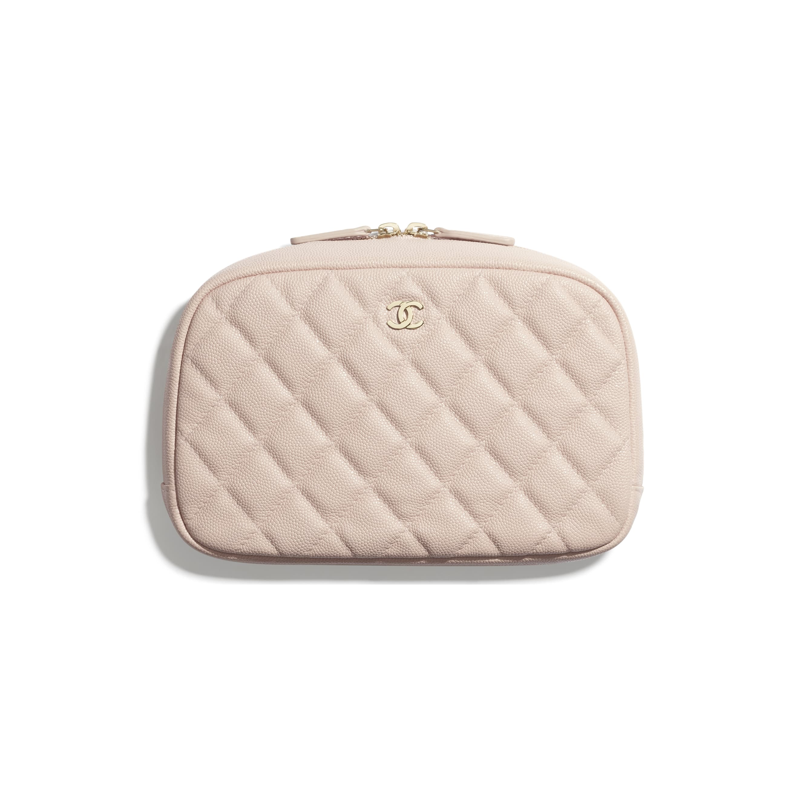 Classic Case - Pale Pink - Grained Shiny Calfskin & Gold-Tone Metal - CHANEL - Default view - see standard sized version