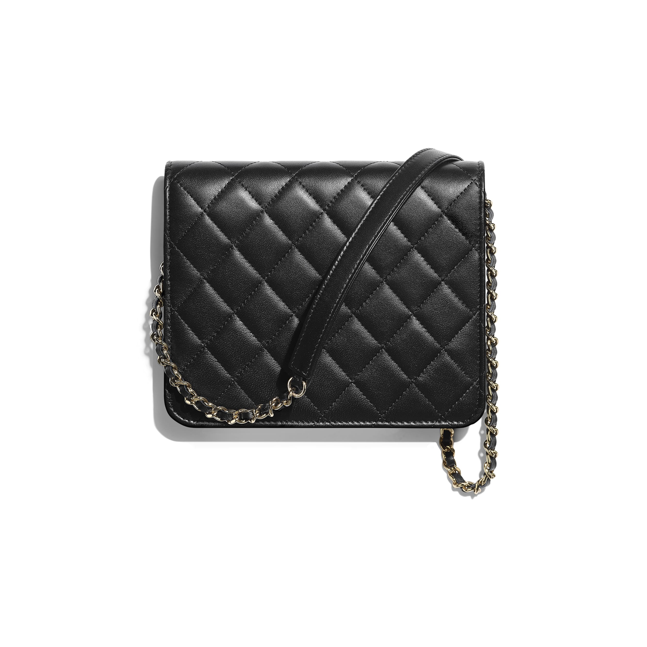 Classic Clutch With Chain - Black - Lambskin - Alternative view - see standard sized version