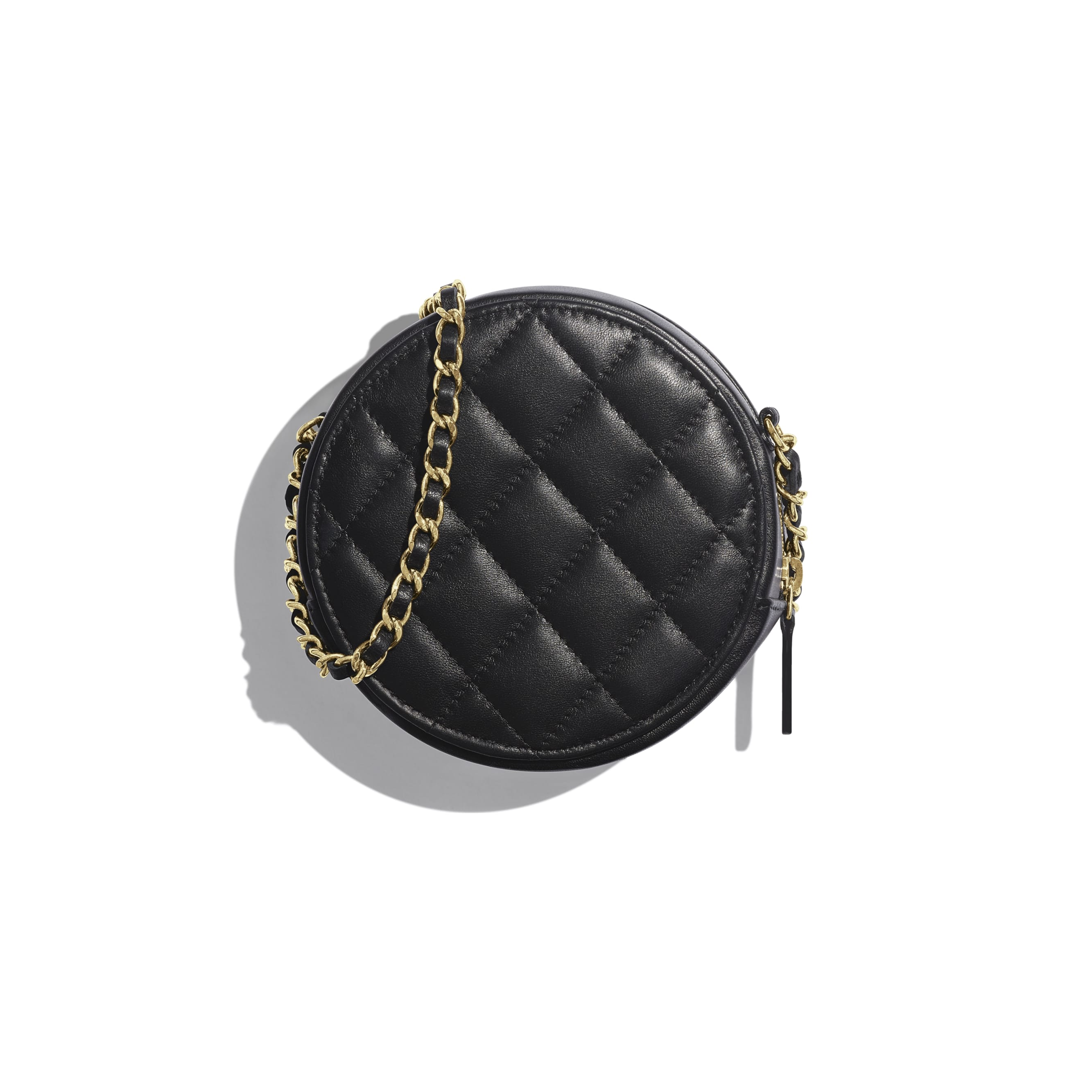 Classic Clutch with Chain - Black - Lambskin & Gold-Tone Metal - Alternative view - see standard sized version