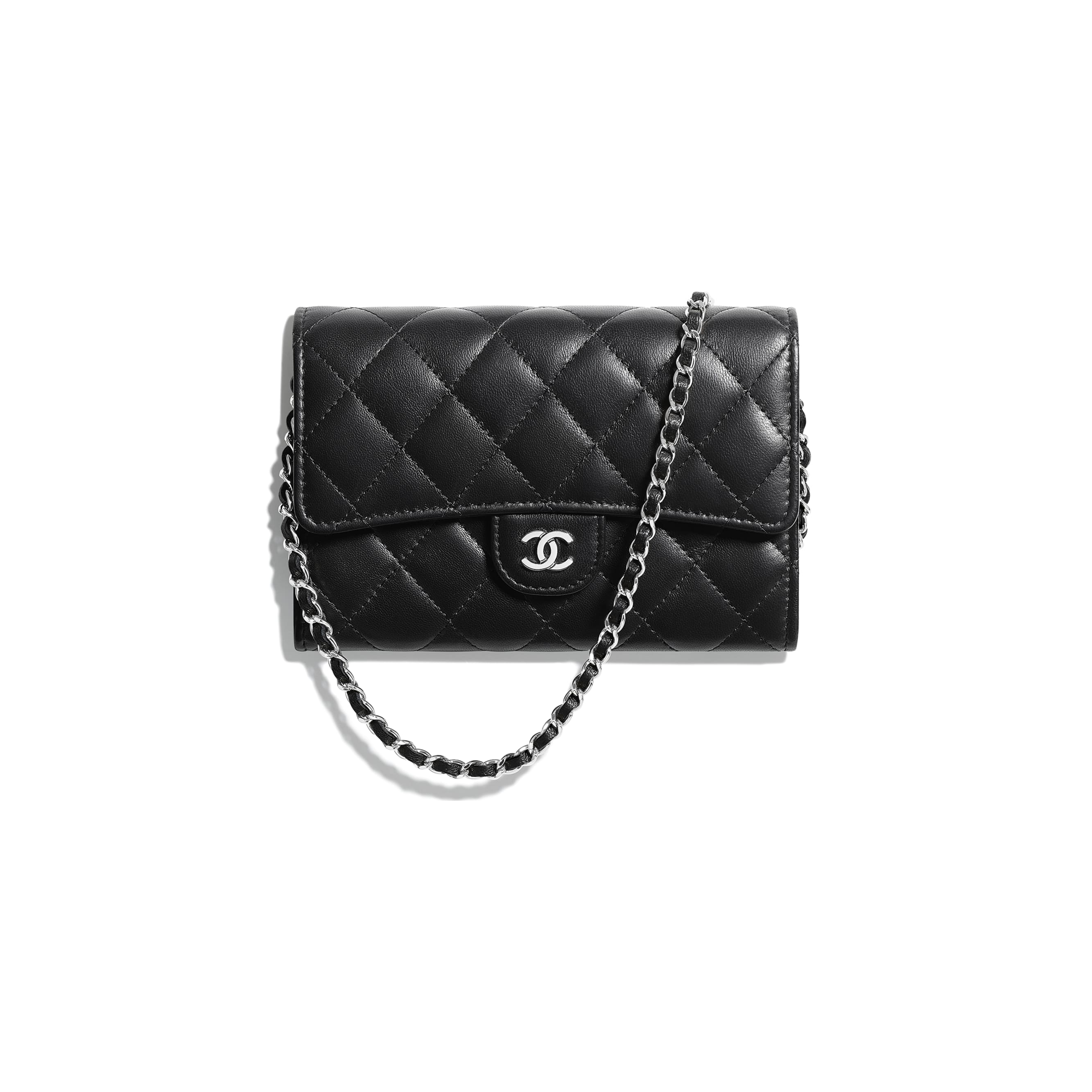 Classic Clutch With Chain - Black - Lambskin - Default view - see standard sized version
