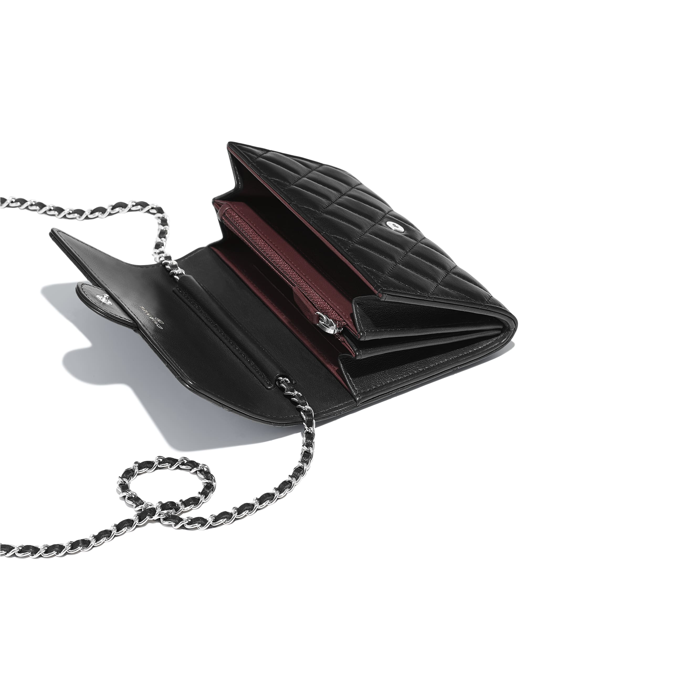 Classic Clutch With Chain - Black - Lambskin - Other view - see standard sized version