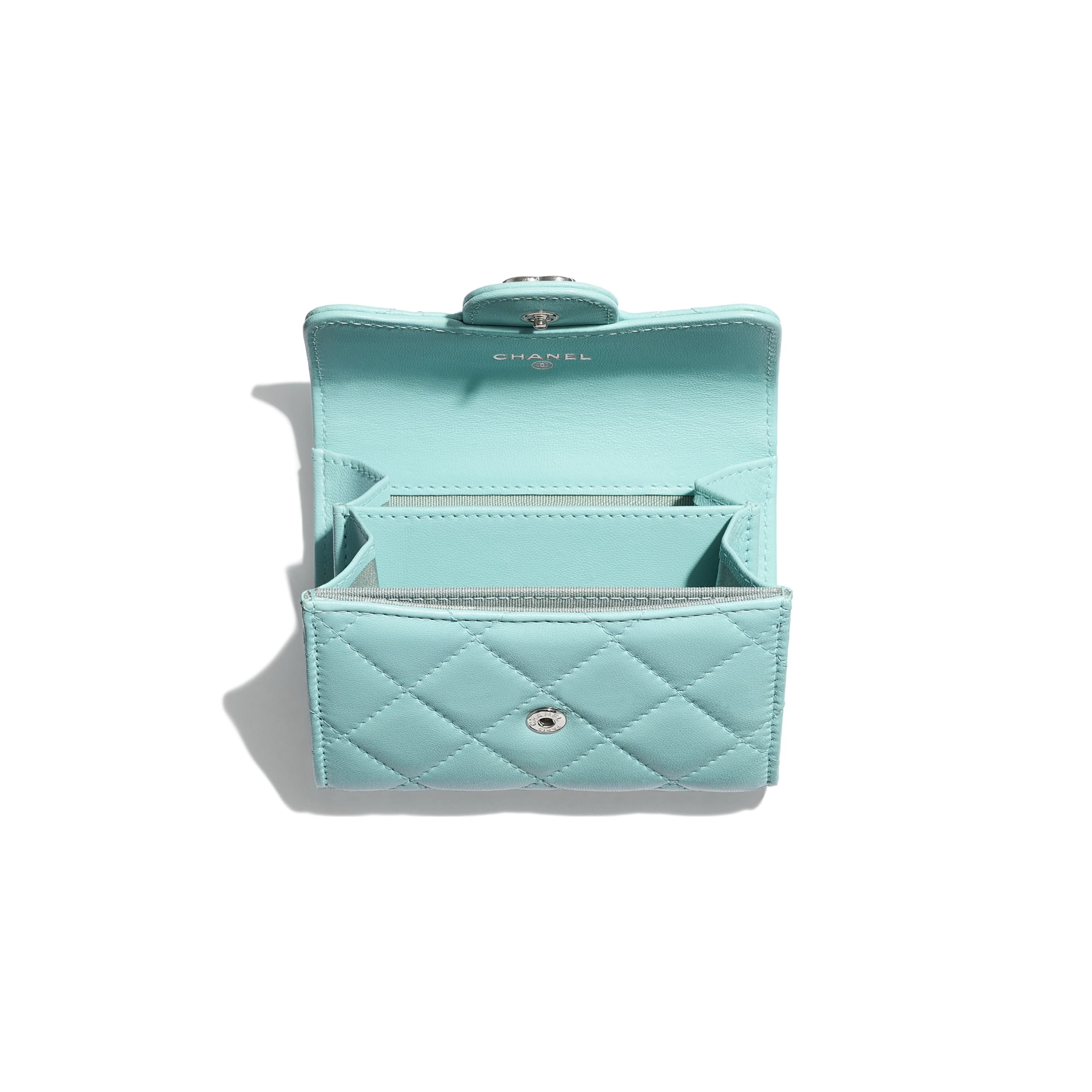 ... Classic Coin Purse - Light Blue - Lambskin   Lacquered Silver-Tone  Metal - Other faeda3b1a2ff1