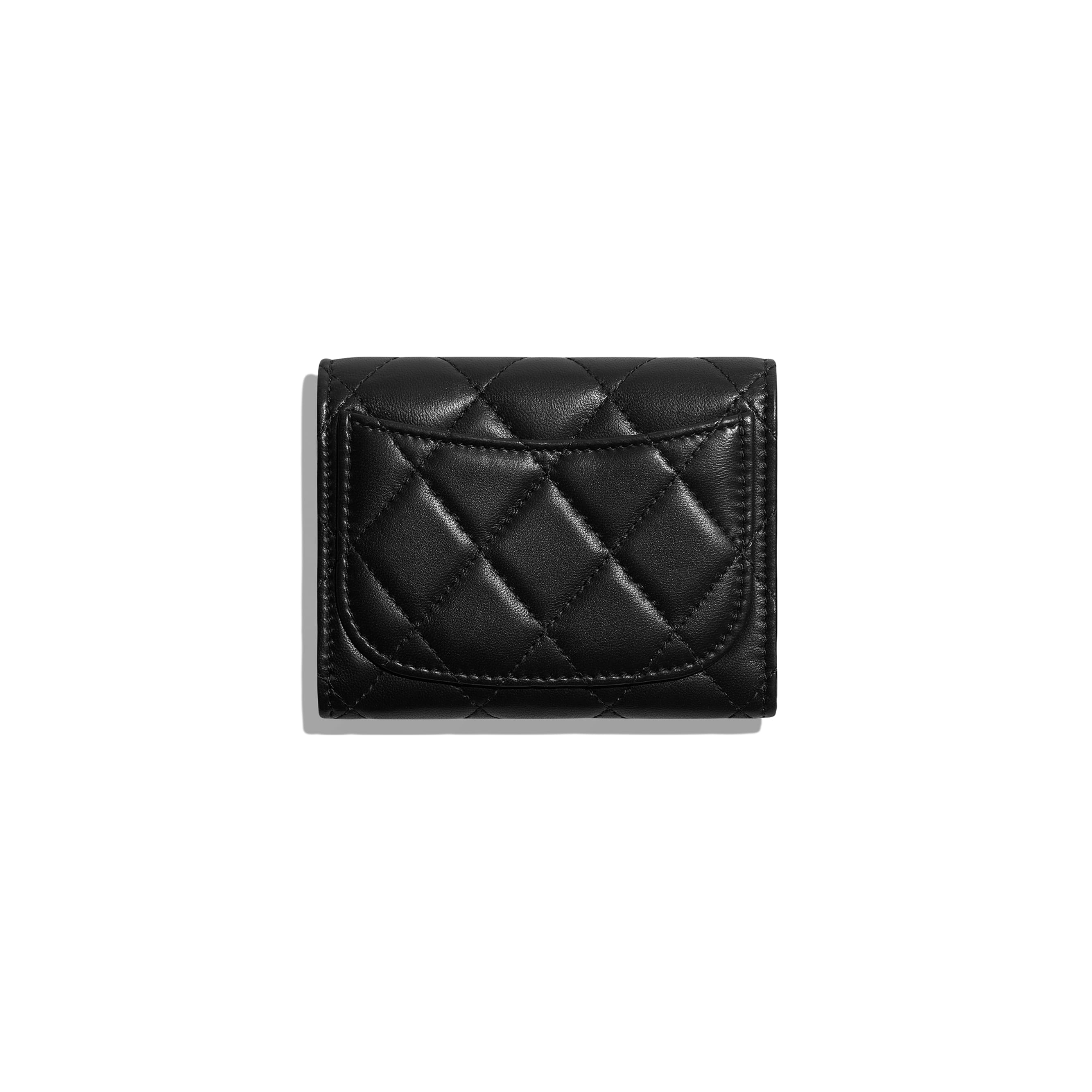 Classic Flap Coin Purse - Black - Lambskin - Alternative view - see standard sized version
