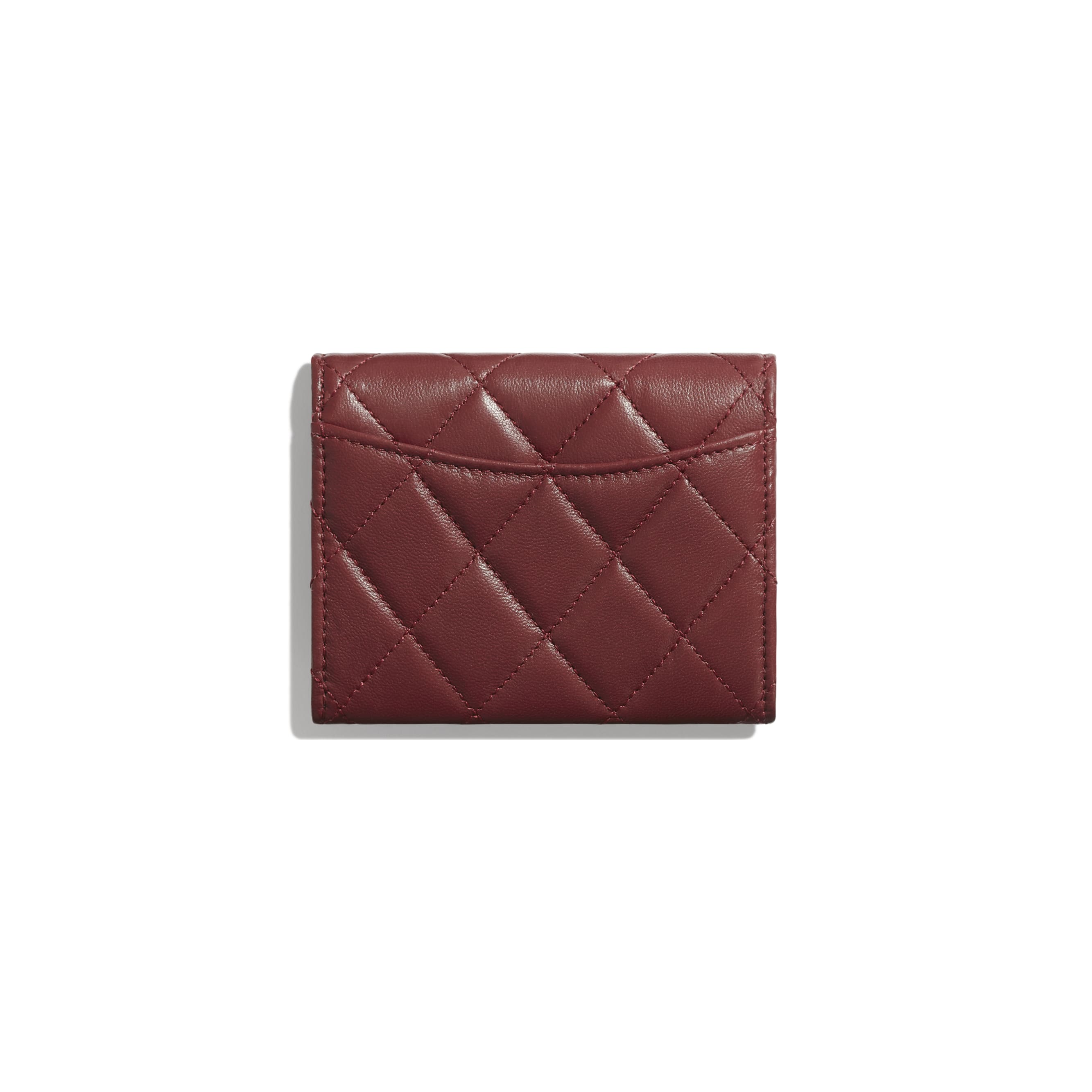 Classic Flap Coin Purse - Burgundy - Lambskin - Alternative view - see standard sized version