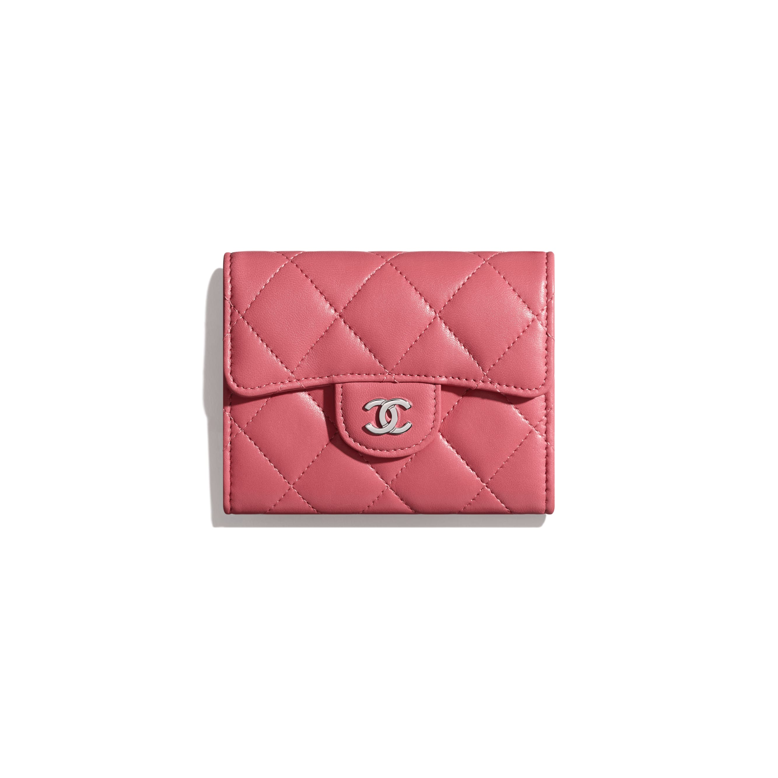Classic Flap Coin Purse - Pink - Lambskin - Default view - see standard sized version