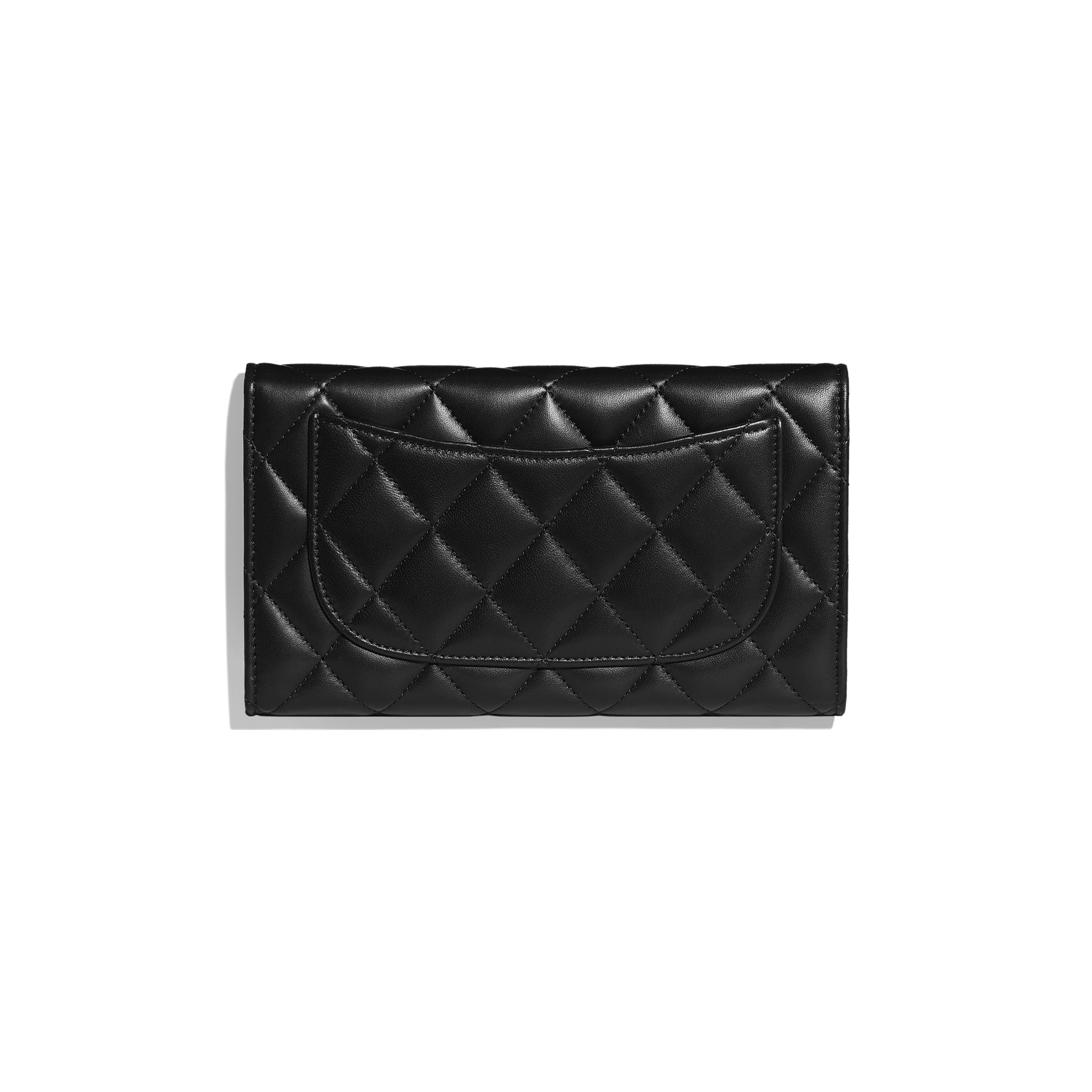 Classic Flap Wallet - Black - Lambskin - CHANEL - Alternative view - see standard sized version