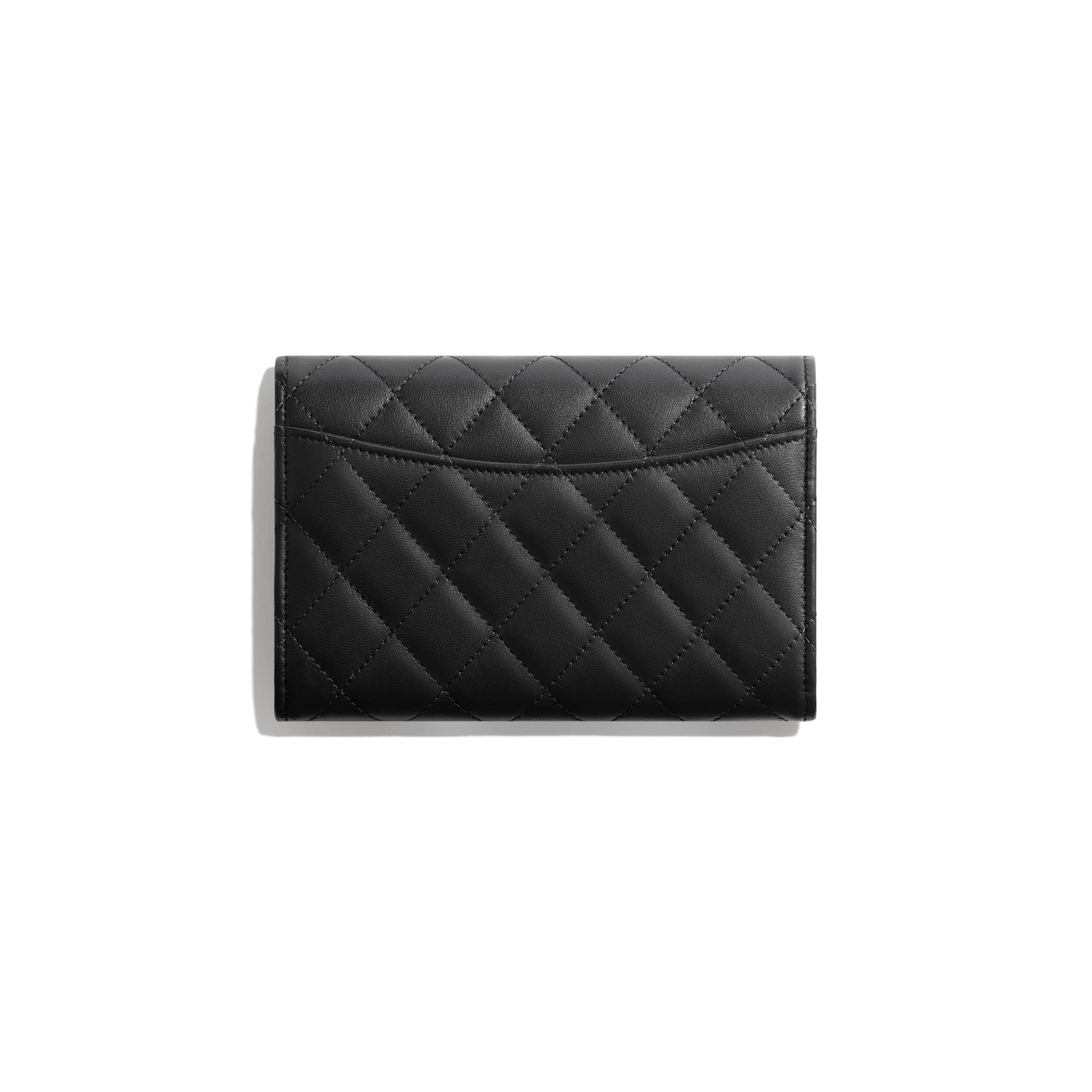 Classic Flap Wallet - Black - Lambskin - Alternative view - see standard sized version