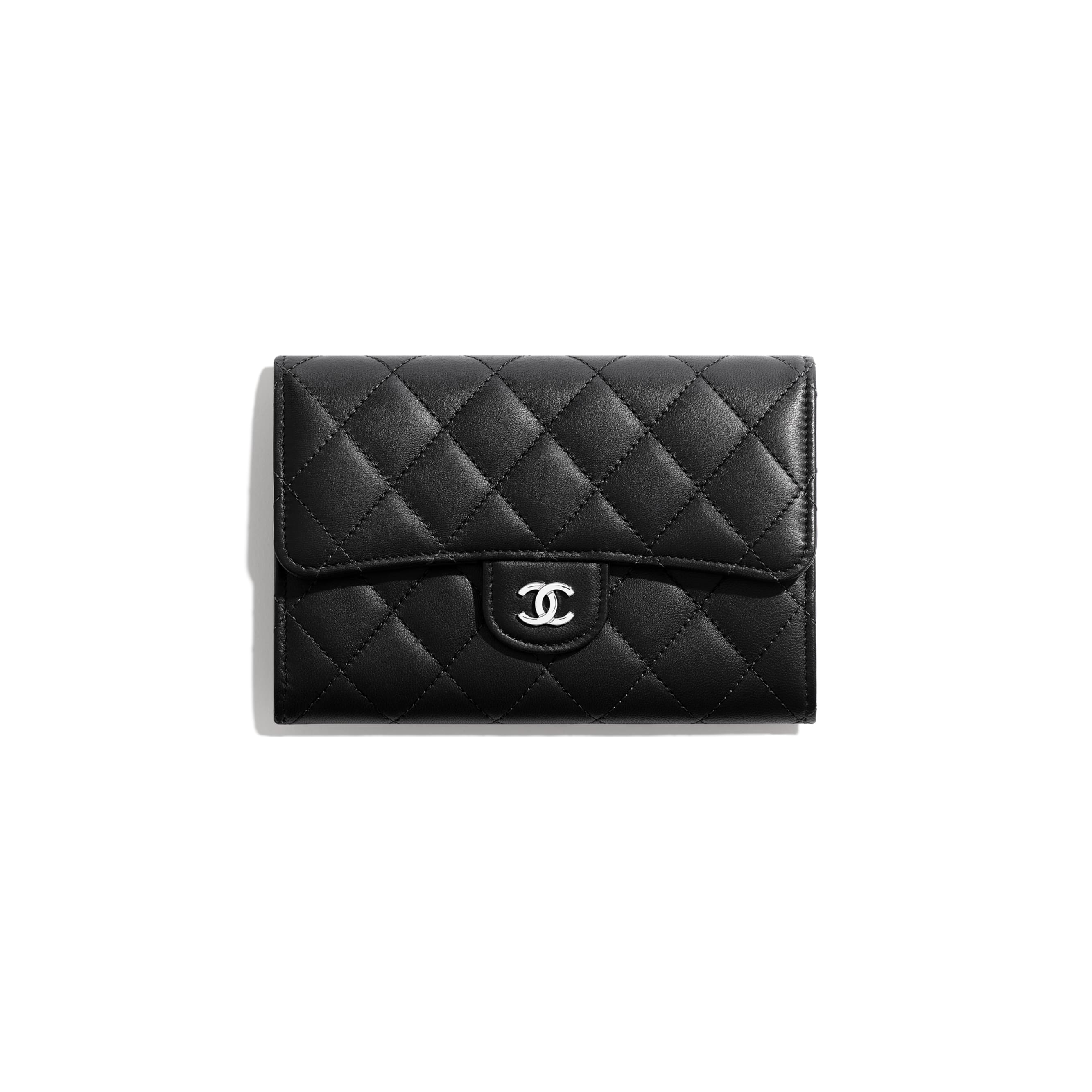Classic Flap Wallet - Black - Lambskin - Default view - see standard sized version