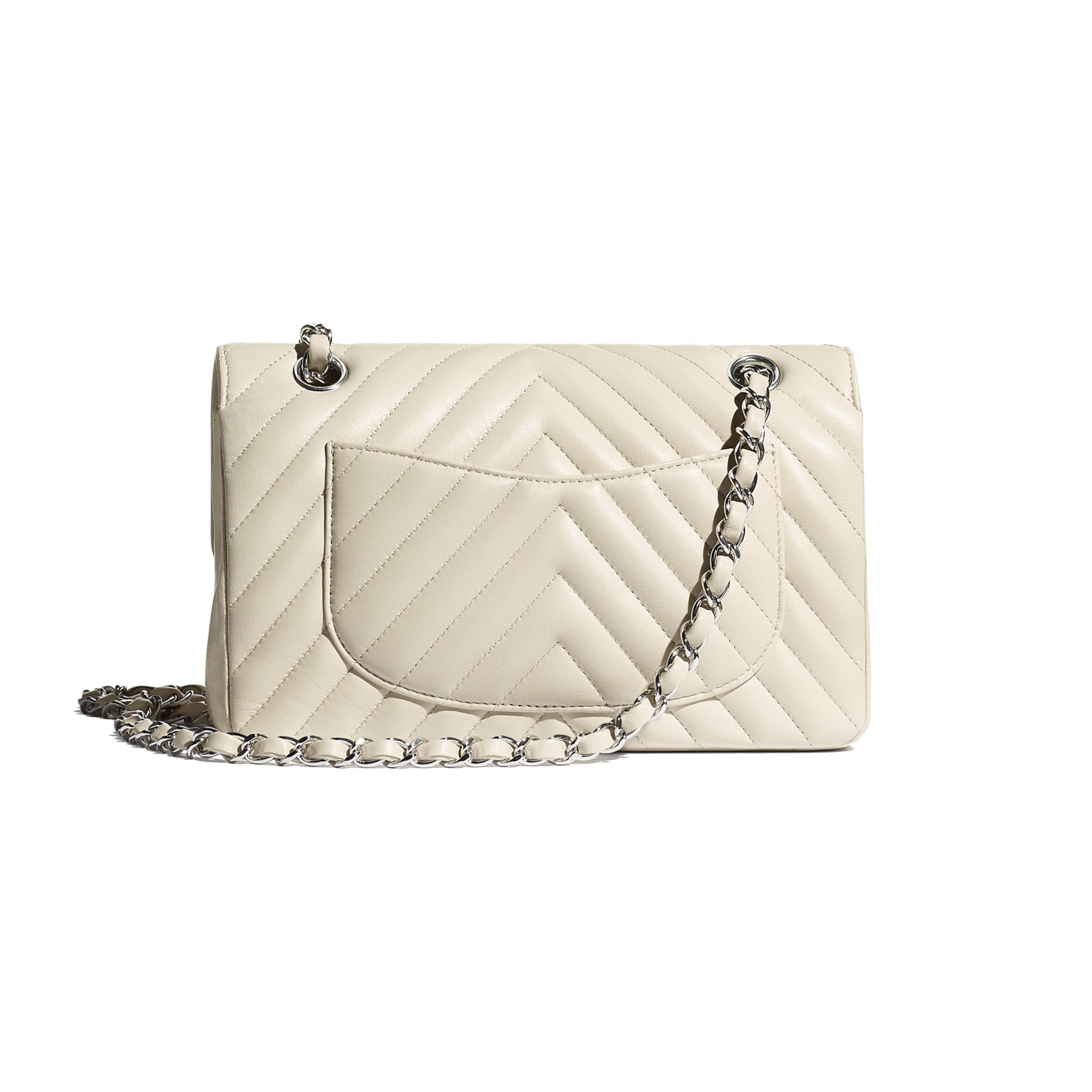 Classic Handbag - Beige - Lambskin - CHANEL - Alternative view - see standard sized version