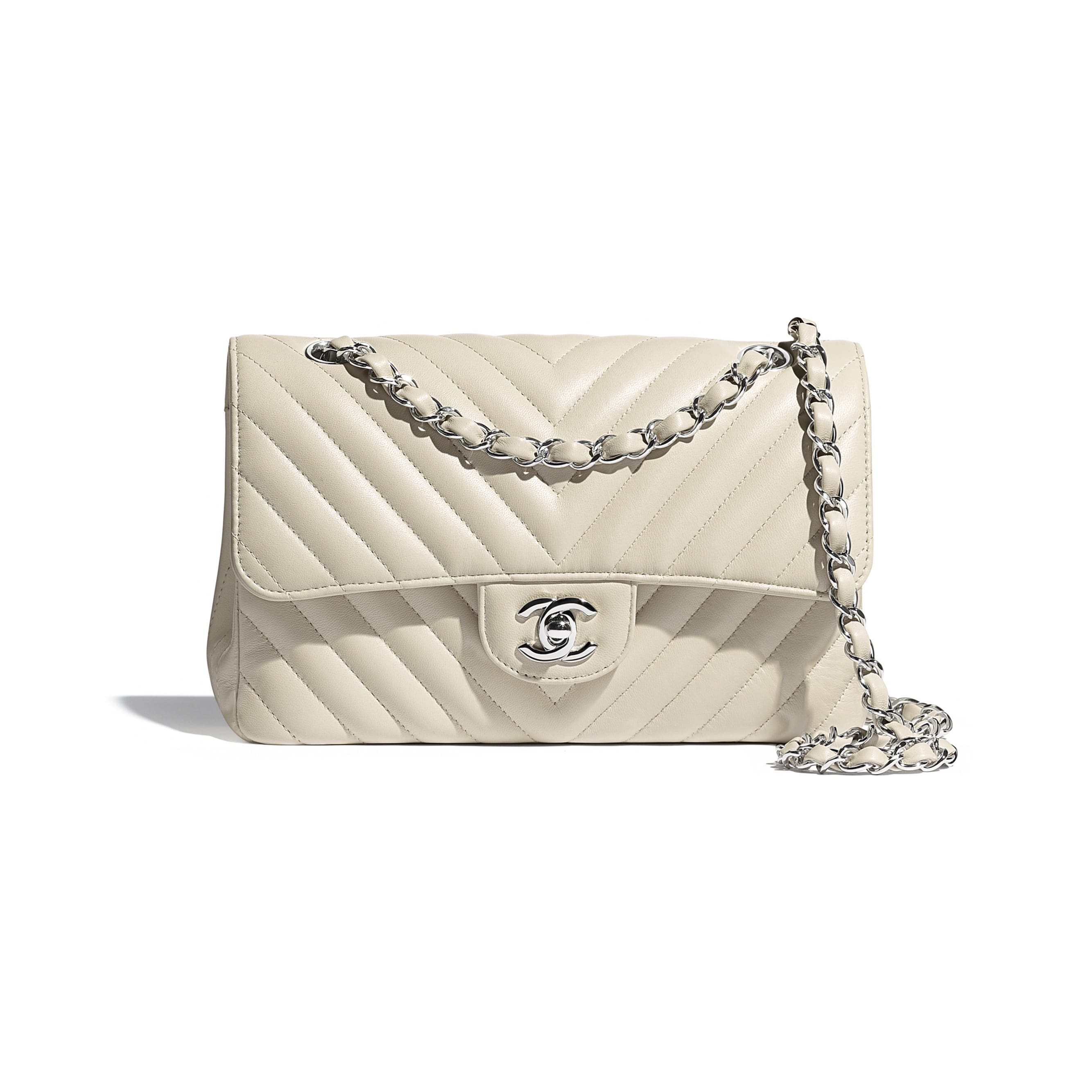 Classic Handbag - Beige - Lambskin - CHANEL - Default view - see standard sized version