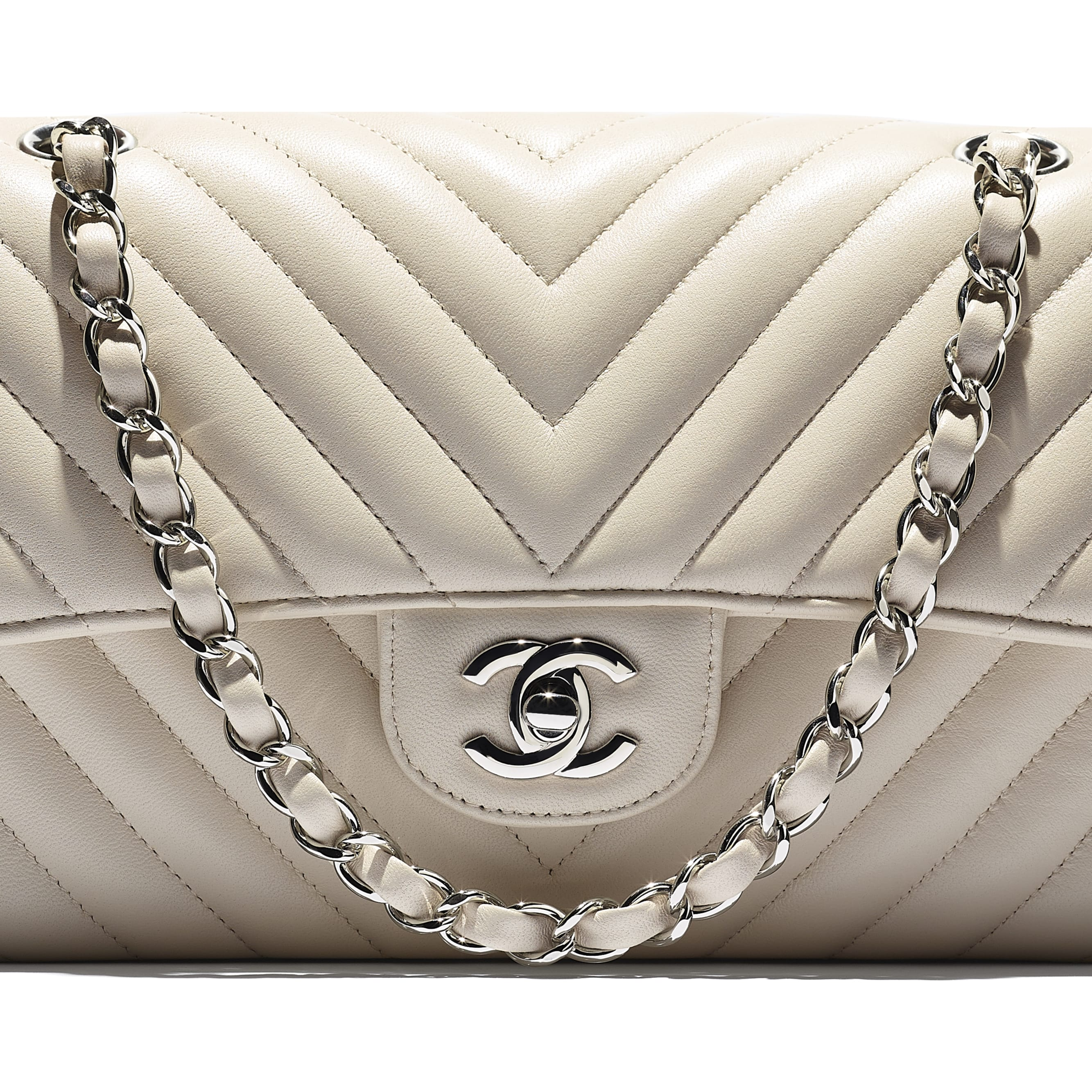 Classic Handbag - Beige - Lambskin - CHANEL - Extra view - see standard sized version