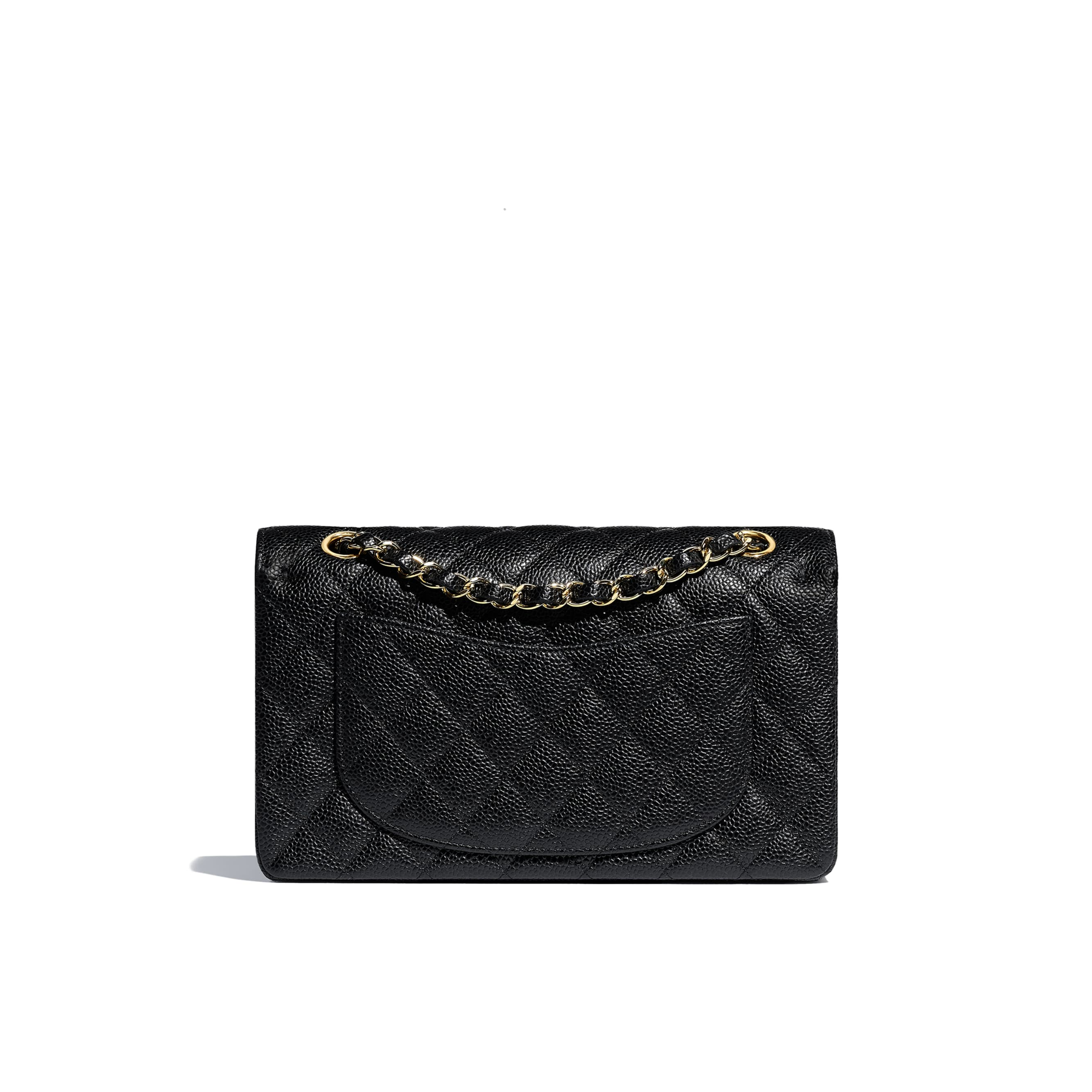 Classic Handbag - Black - Grained Calfskin & Gold-Tone Metal - CHANEL - Alternative view - see standard sized version