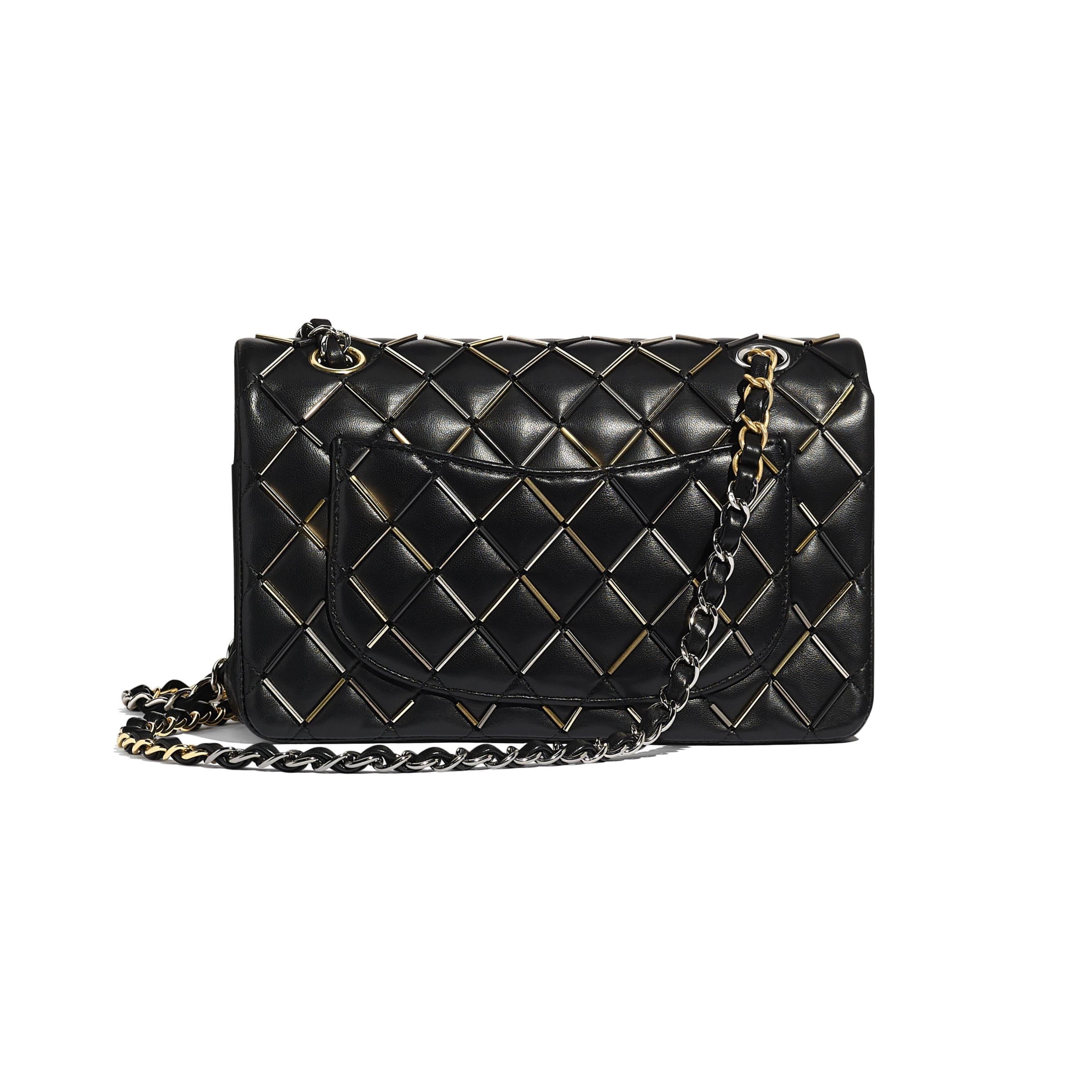 Classic Handbag - Black - Lambskin, Gold-Tone, Silver-Tone, Black & Ruthenium-Finish Metal  - CHANEL - Alternative view - see standard sized version