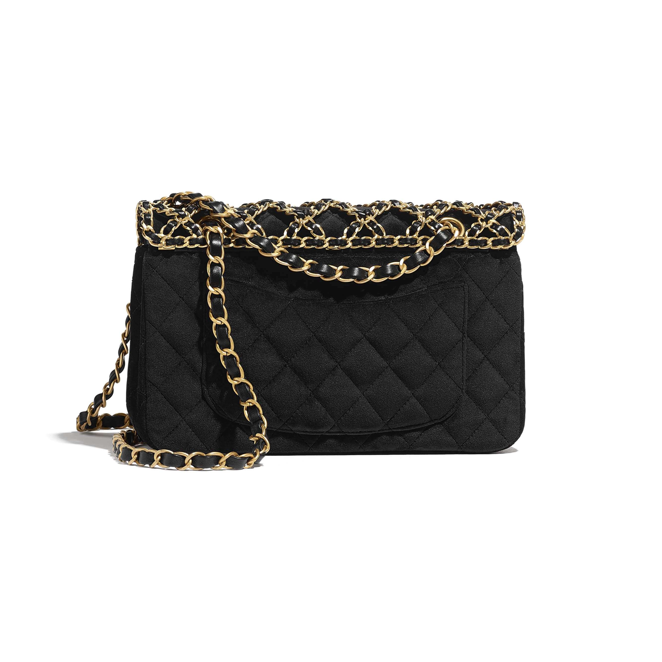 Classic Handbag - Black - Velvet & Gold Metal - CHANEL - Alternative view - see standard sized version