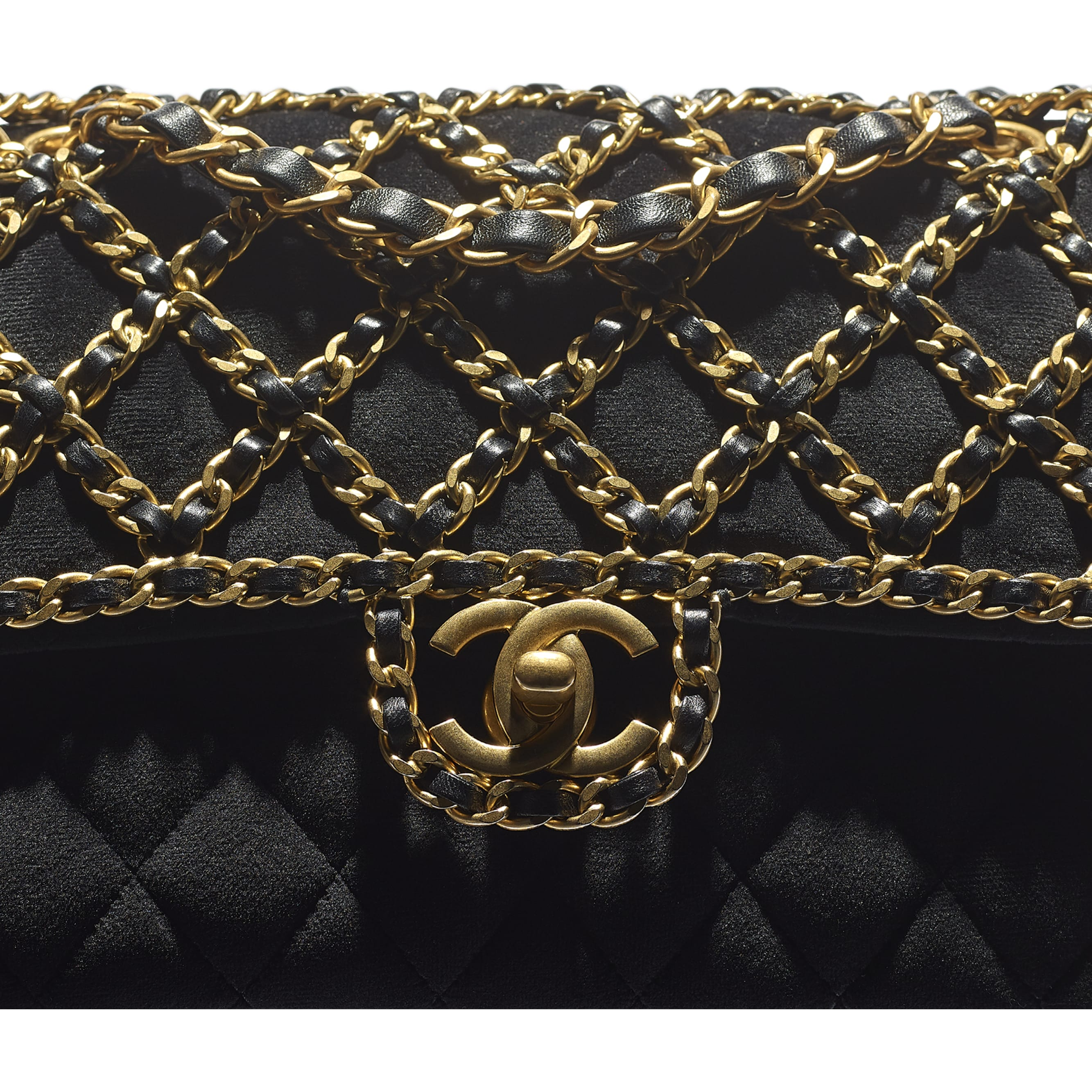 Classic Handbag - Black - Velvet & Gold Metal - CHANEL - Extra view - see standard sized version