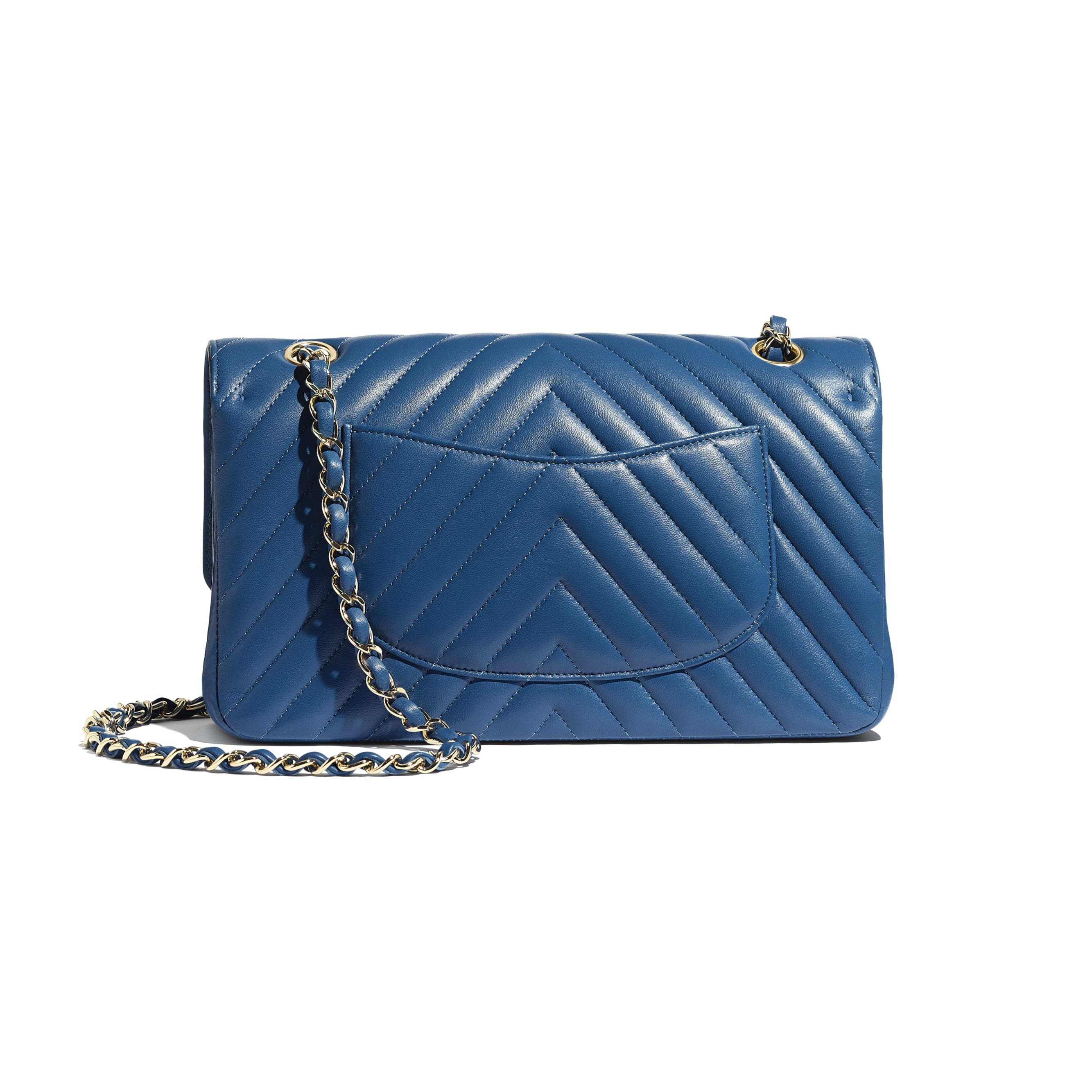 Classic Handbag - Dark Blue - Lambskin - Alternative view - see standard sized version