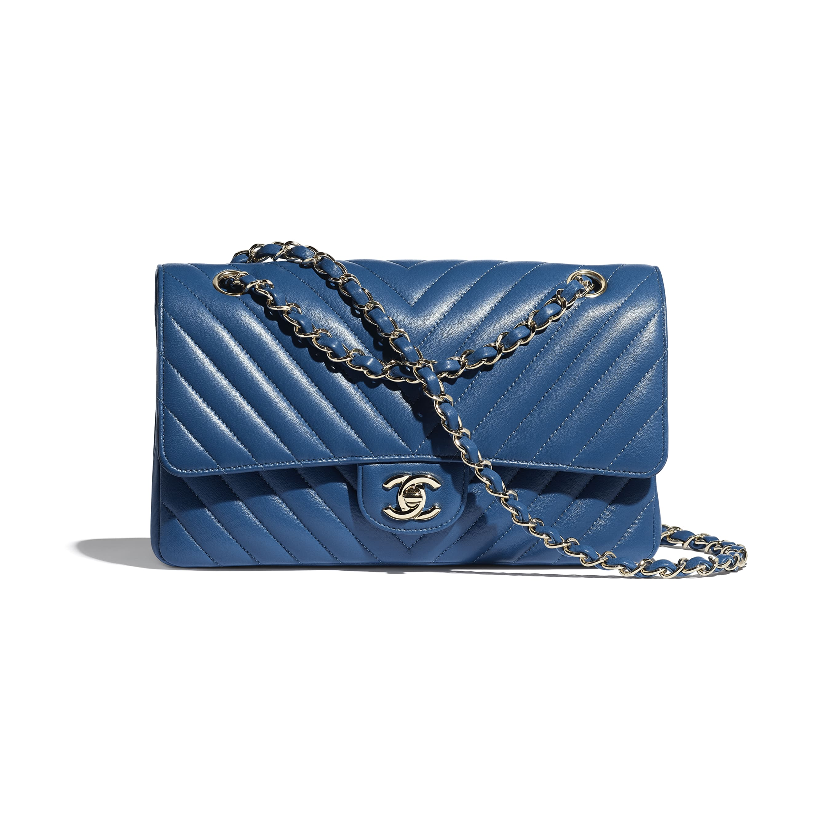 Classic Handbag - Dark Blue - Lambskin - Default view - see standard sized version