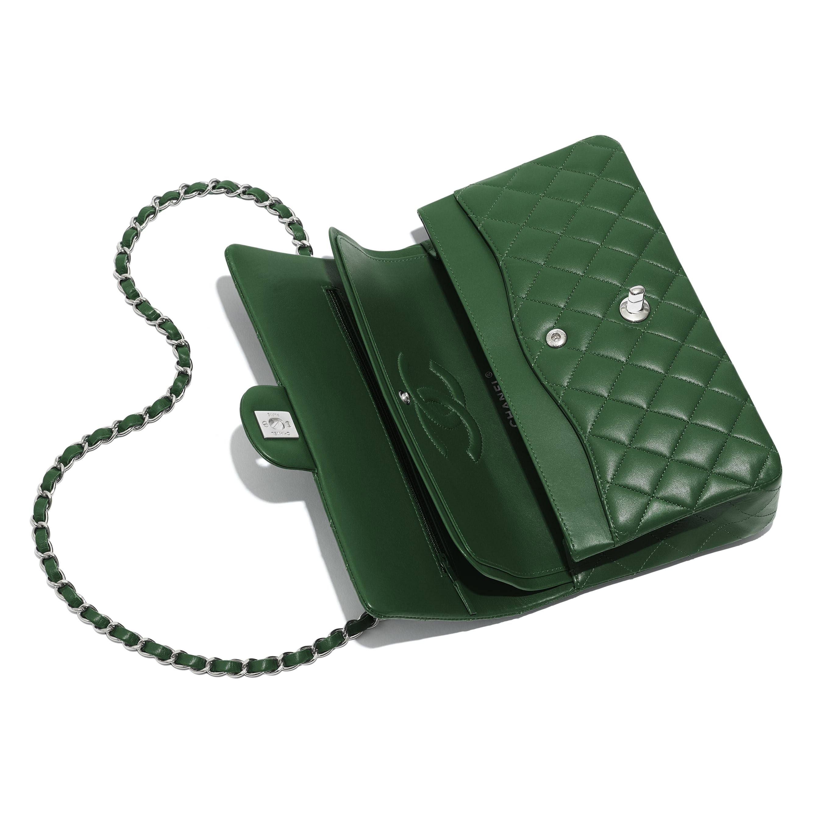 Classic Handbag - Green - Lambskin - Other view - see standard sized version