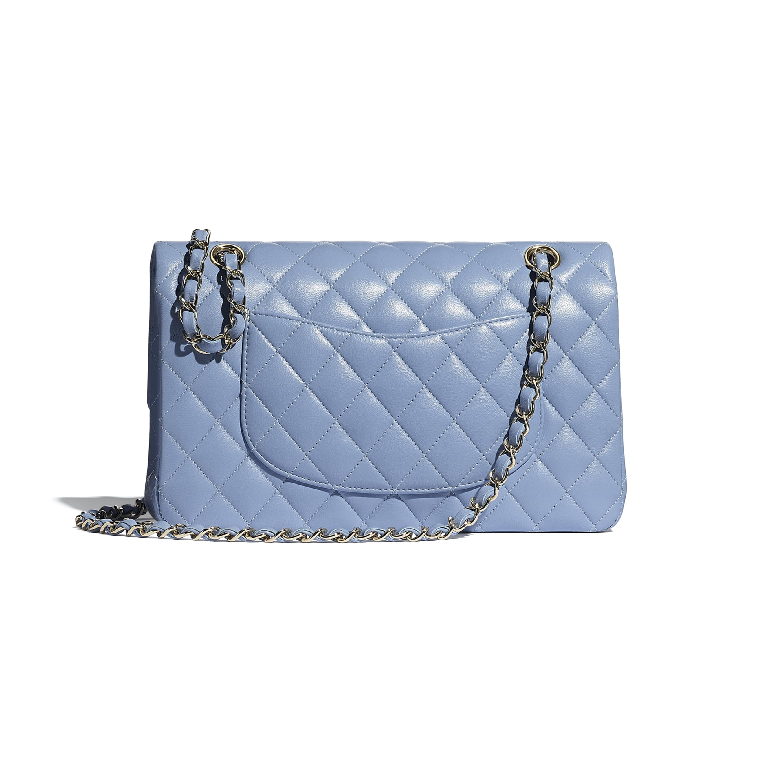 Classic Handbag - Sky Blue - Lambskin - CHANEL - Alternative view - see standard sized version