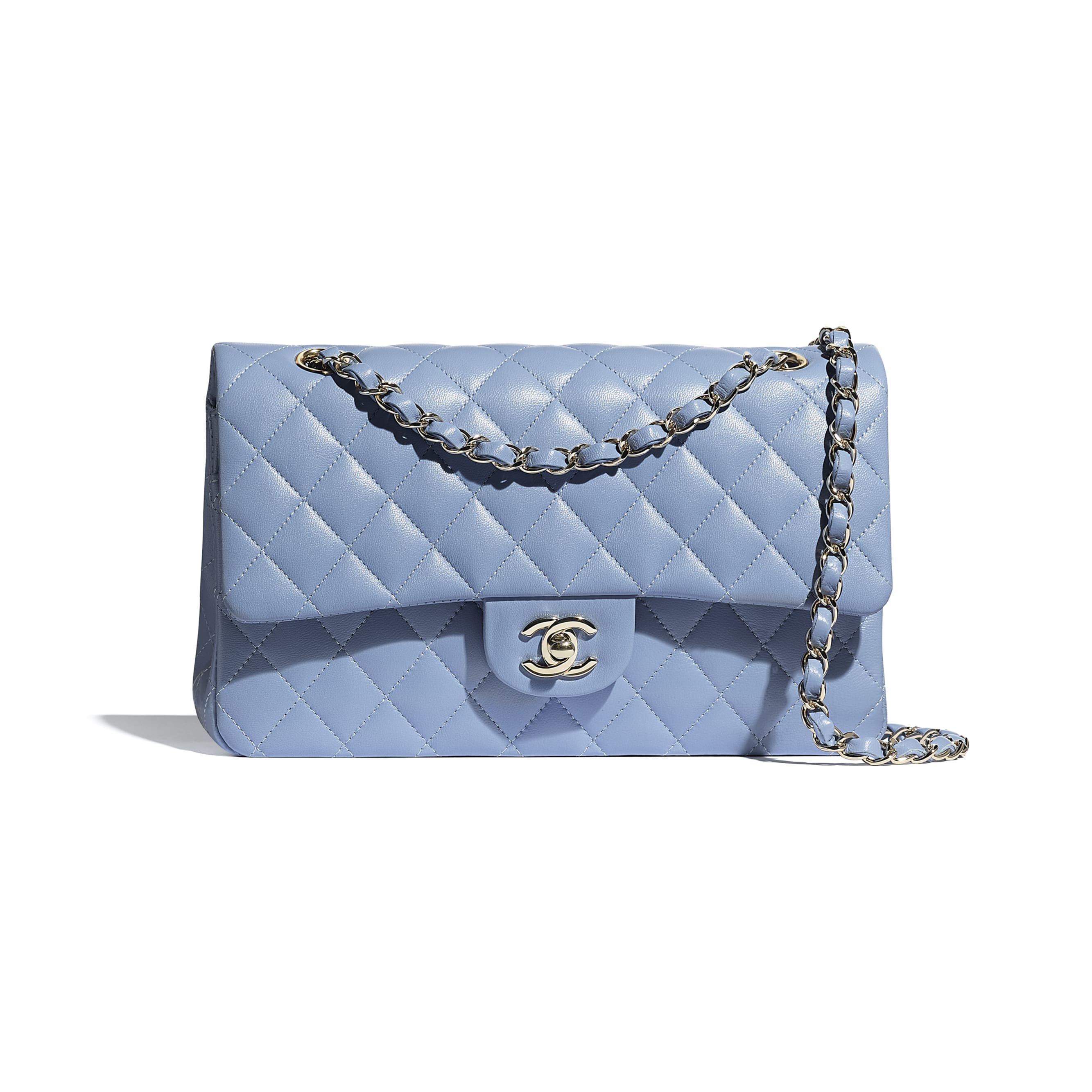 Classic Handbag - Sky Blue - Lambskin - CHANEL - Default view - see standard sized version