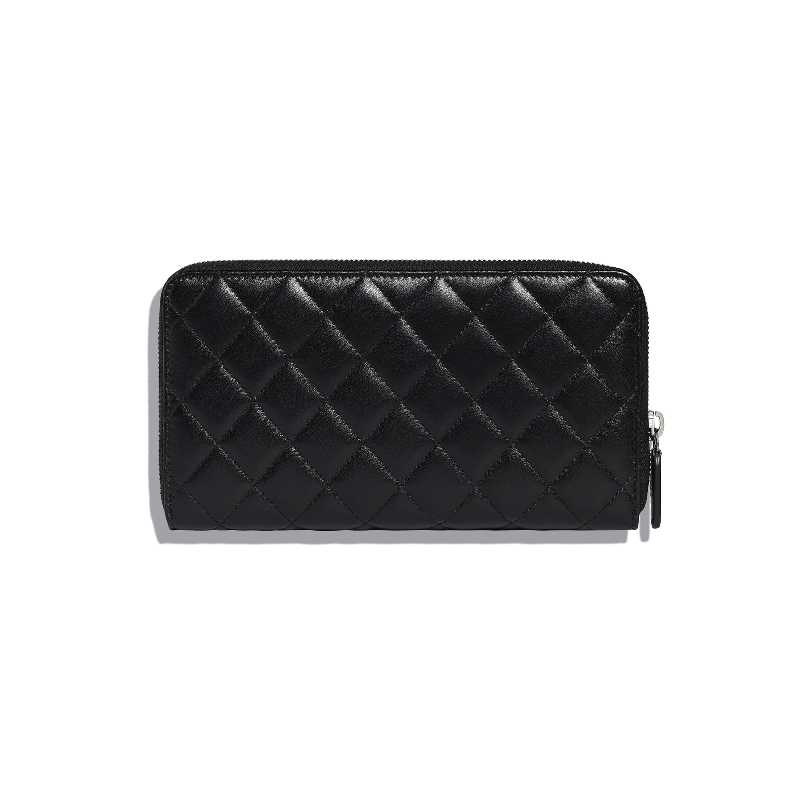 Classic Large Zipped Wallet - Black - Lambskin - Alternative view - see standard sized version