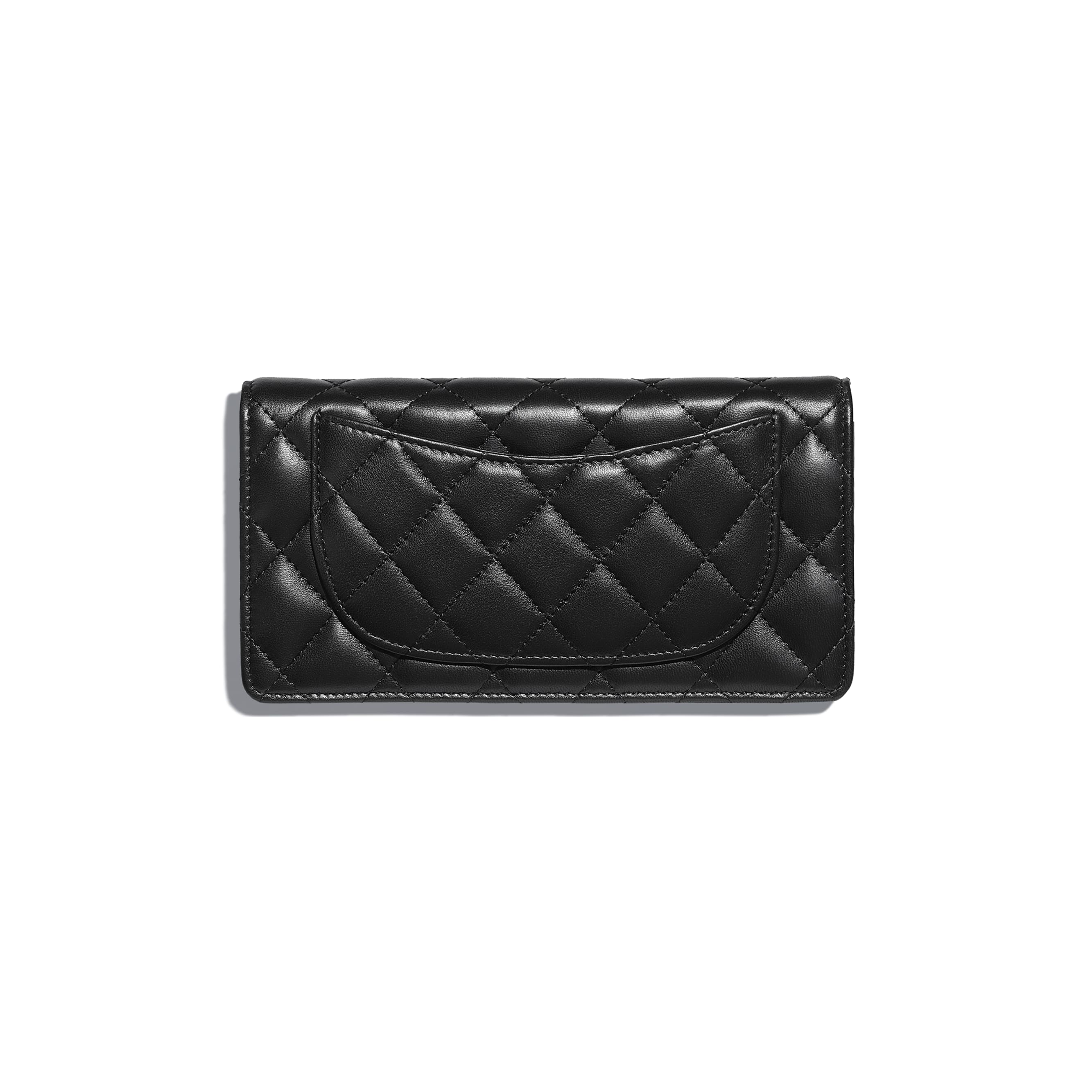 Classic Long Flap Wallet - Black - Lambskin - Alternative view - see standard sized version