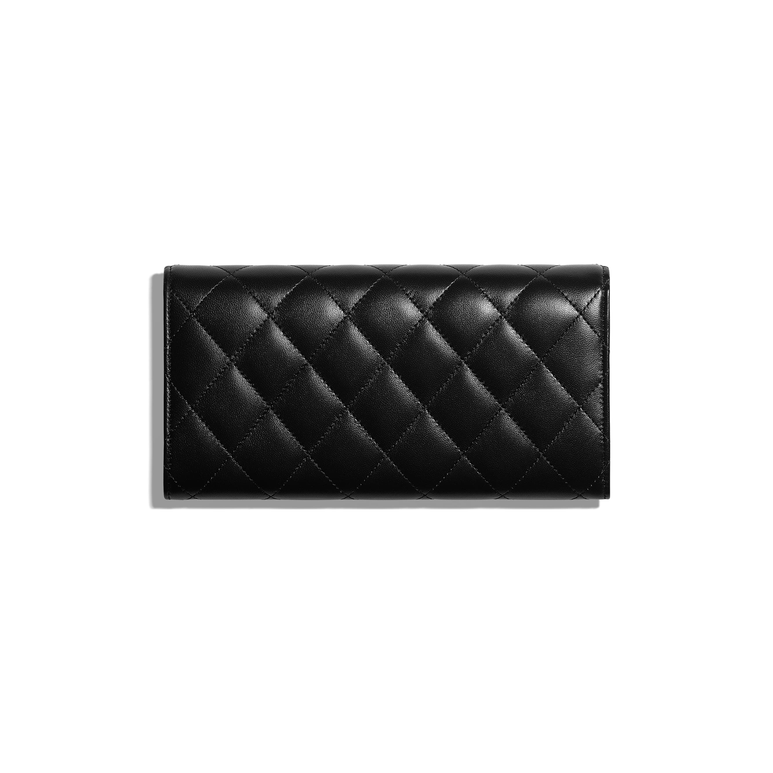 8998564dc00f ... Classic Long Flap Wallet - Black - Lambskin   Silver-Tone Metal -  Alternative view