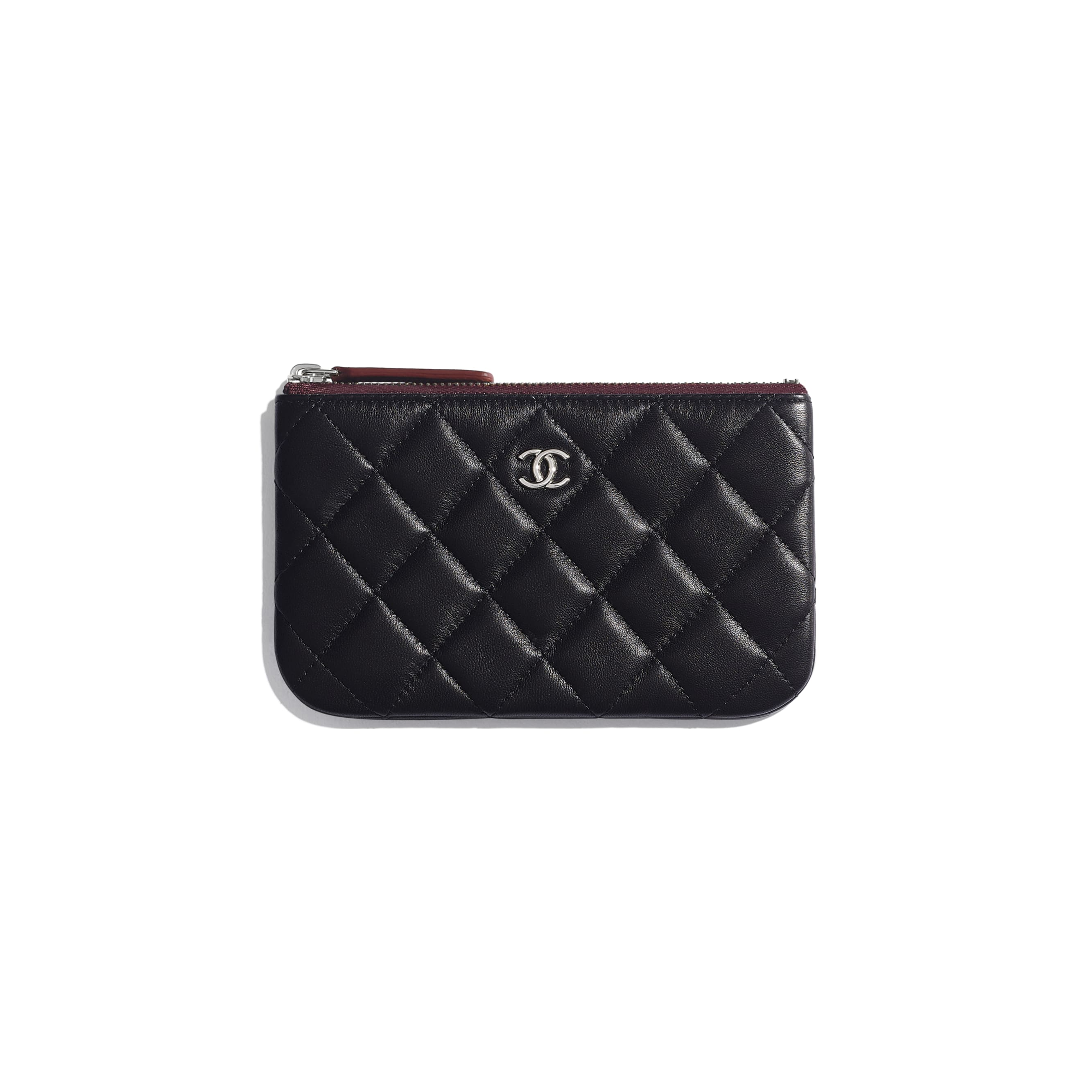 Classic Mini Pouch - Black - Lambskin & Silver-Tone Metal - CHANEL - Default view - see standard sized version