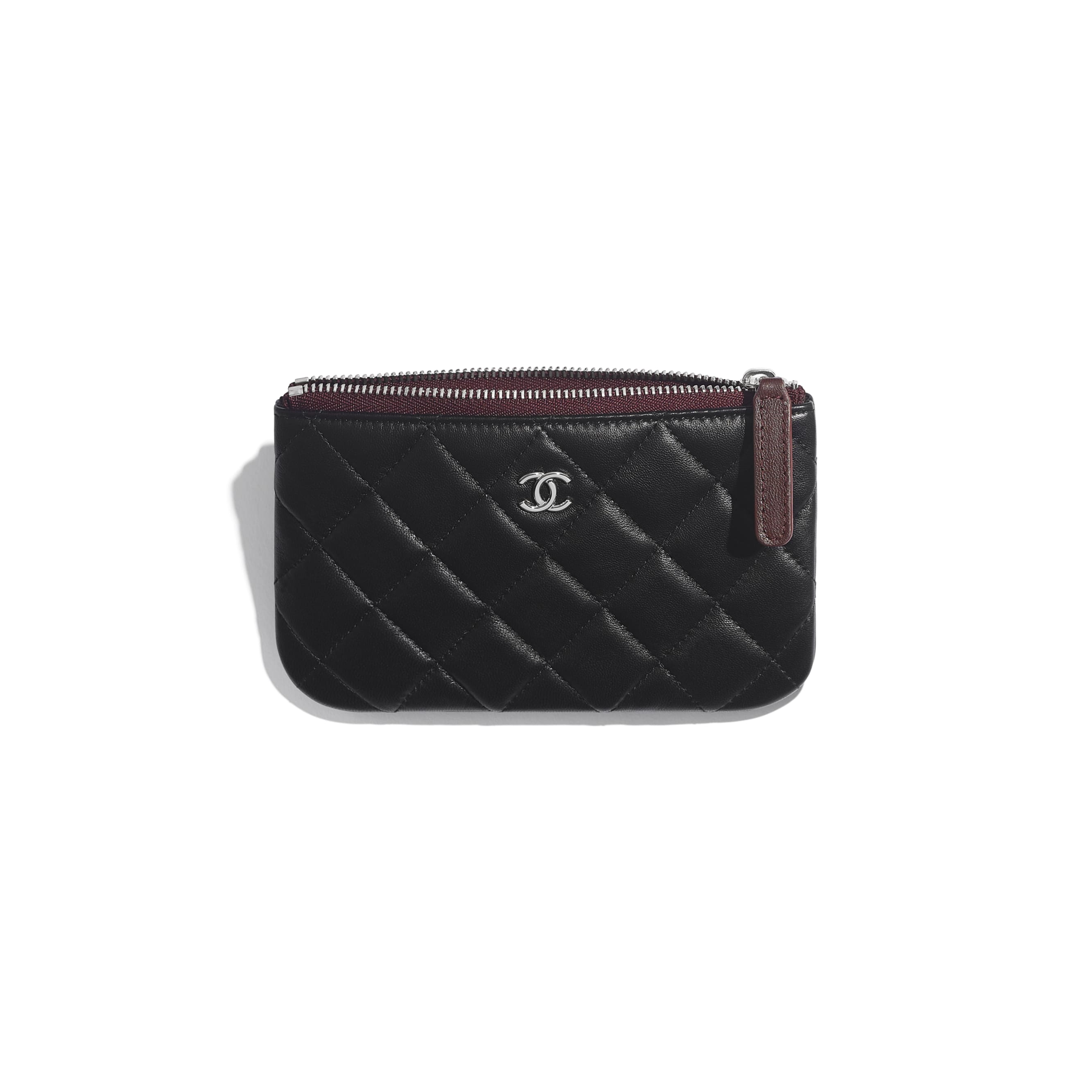Classic Mini Pouch - Black - Lambskin & Silver-Tone Metal - CHANEL - Other view - see standard sized version