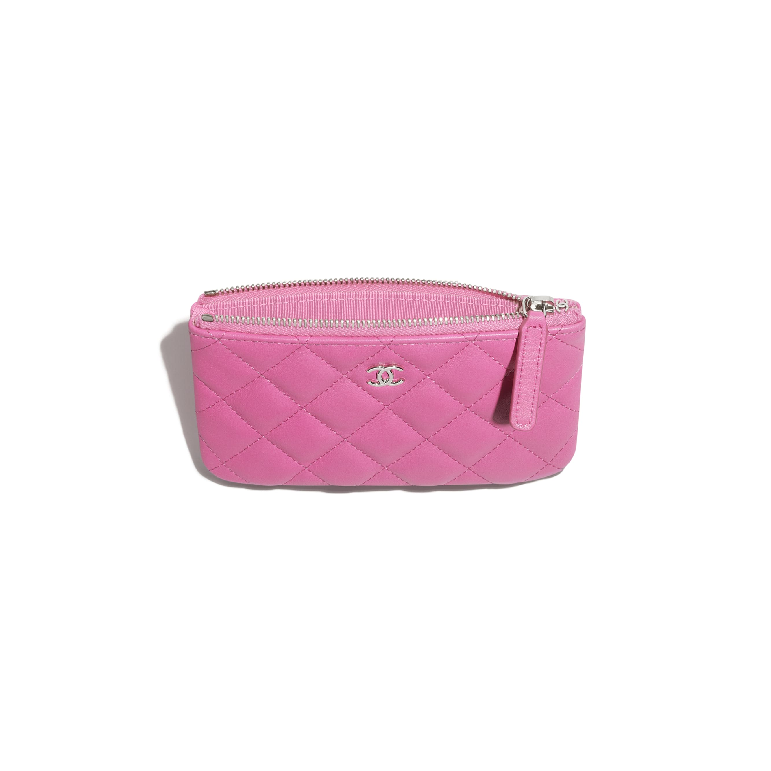Classic Mini Pouch - Neon Pink - Lambskin - CHANEL - Alternative view - see standard sized version