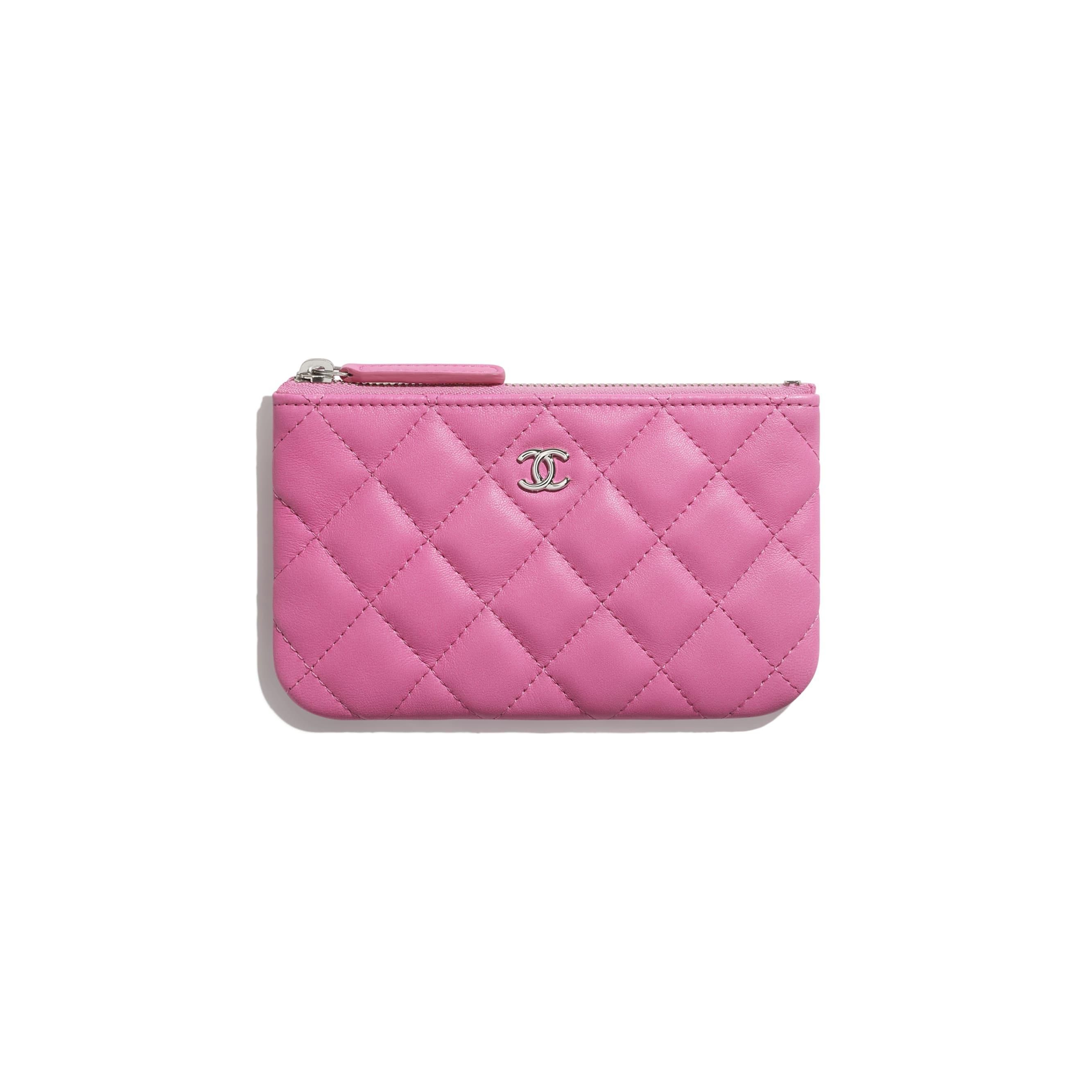 Classic Mini Pouch - Neon Pink - Lambskin - CHANEL - Default view - see standard sized version