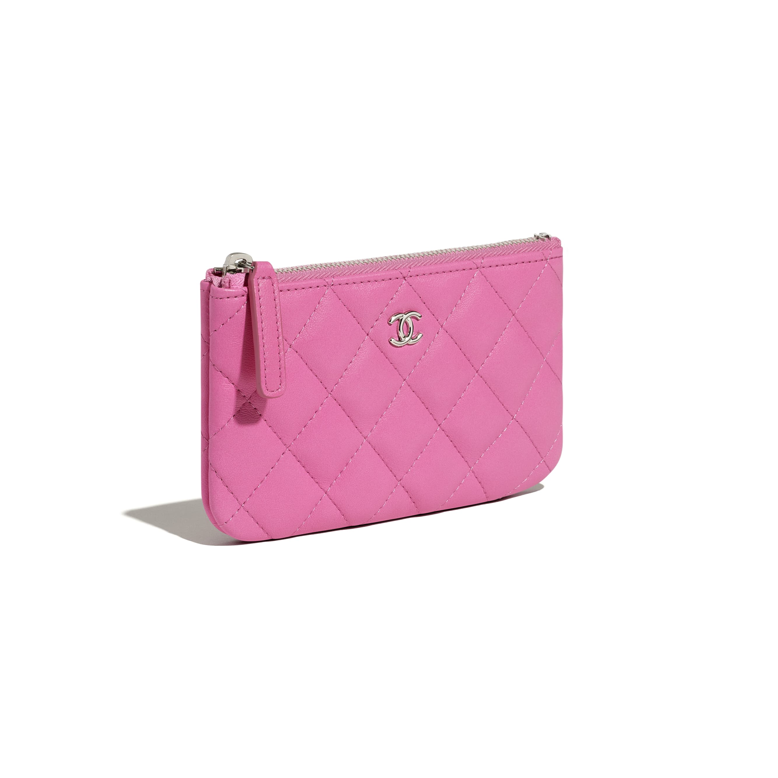 Classic Mini Pouch - Neon Pink - Lambskin - CHANEL - Extra view - see standard sized version